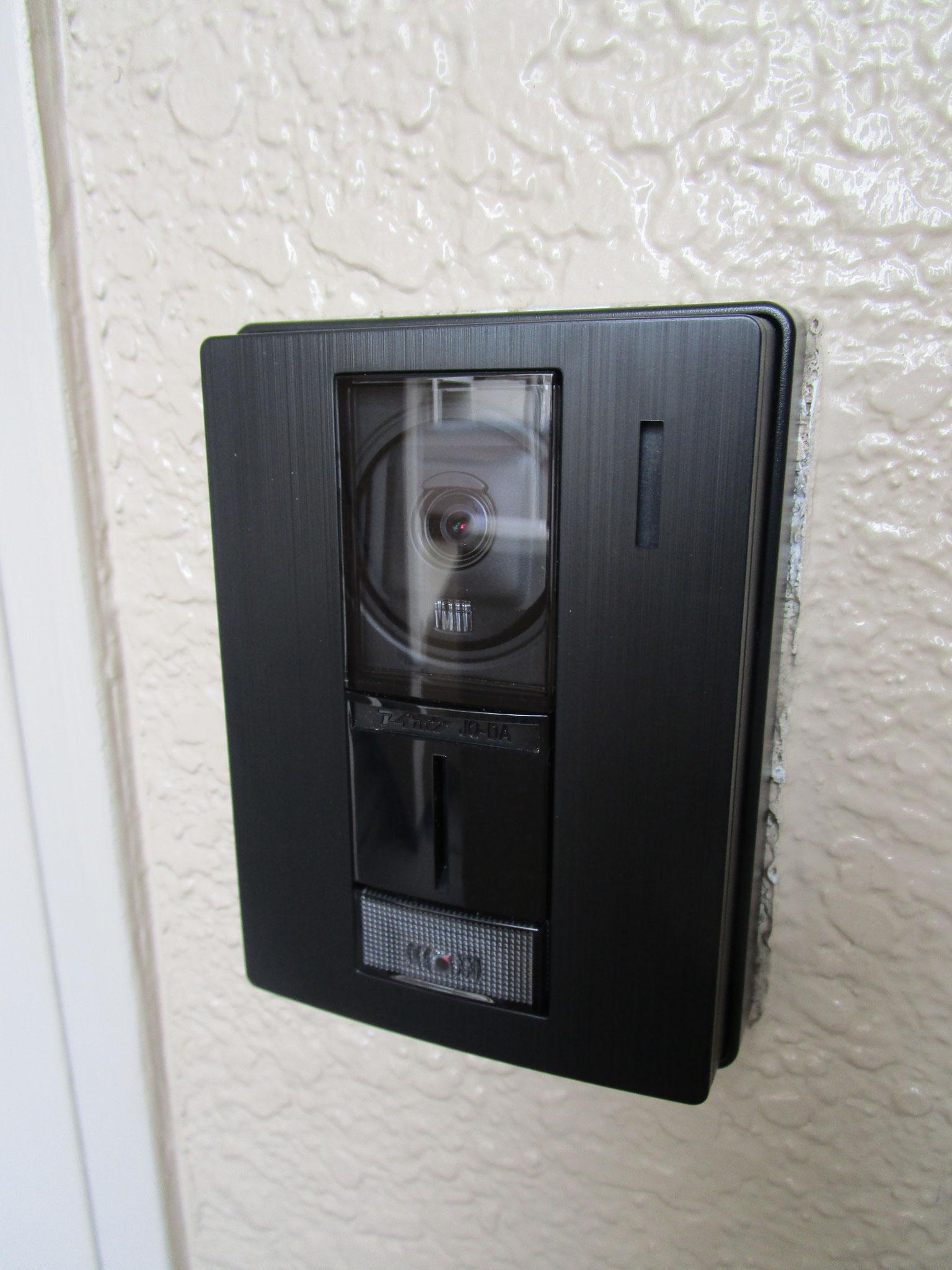 カラーモニター付きインターホン設置