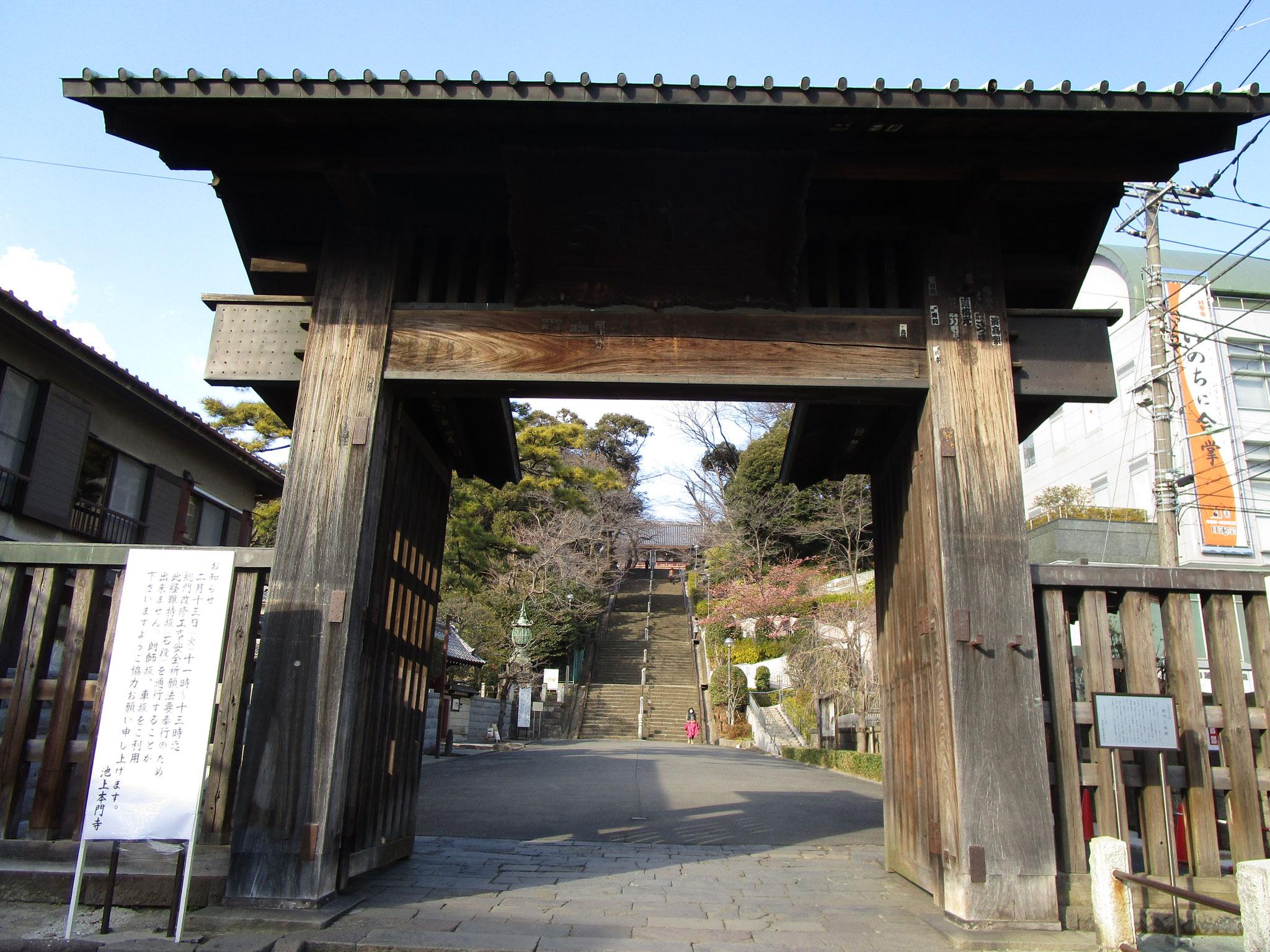 梅園に隣接する「池上本門寺」