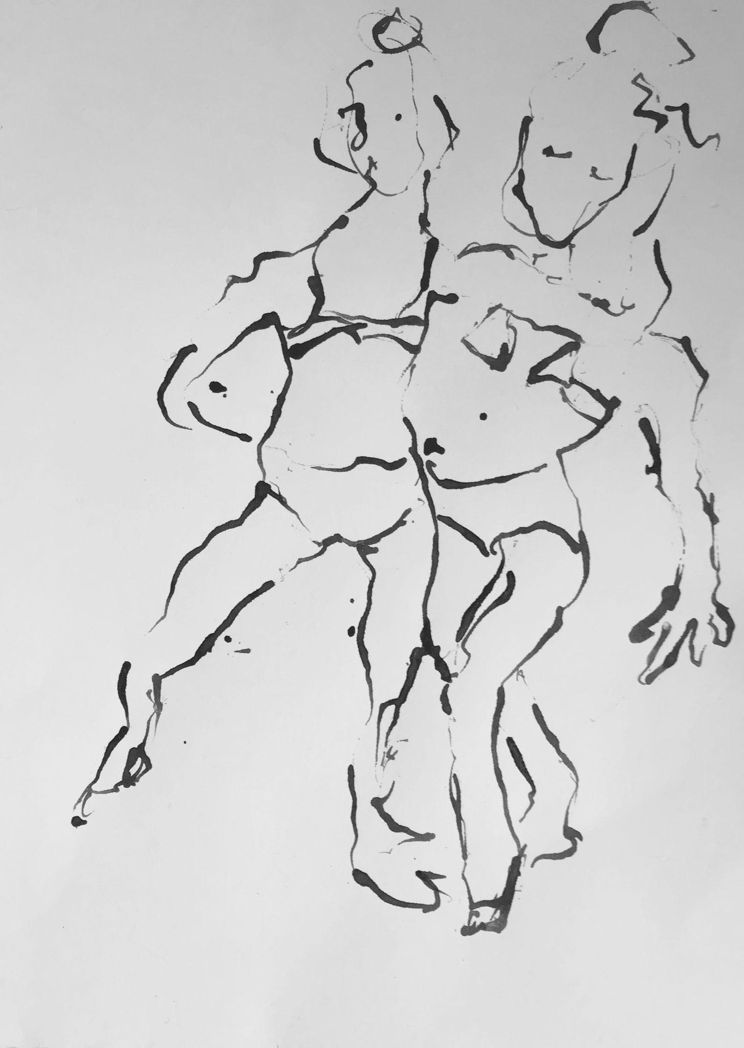 schnelle Skizzen auf Papier DIN A4