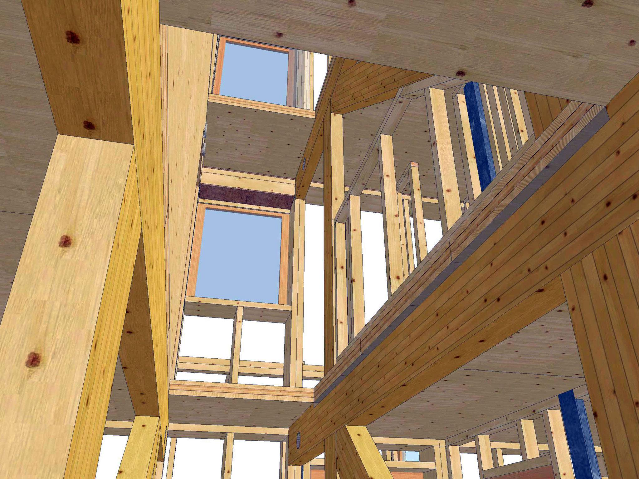 Konstruktion - Quelle: Holzbau Unfried