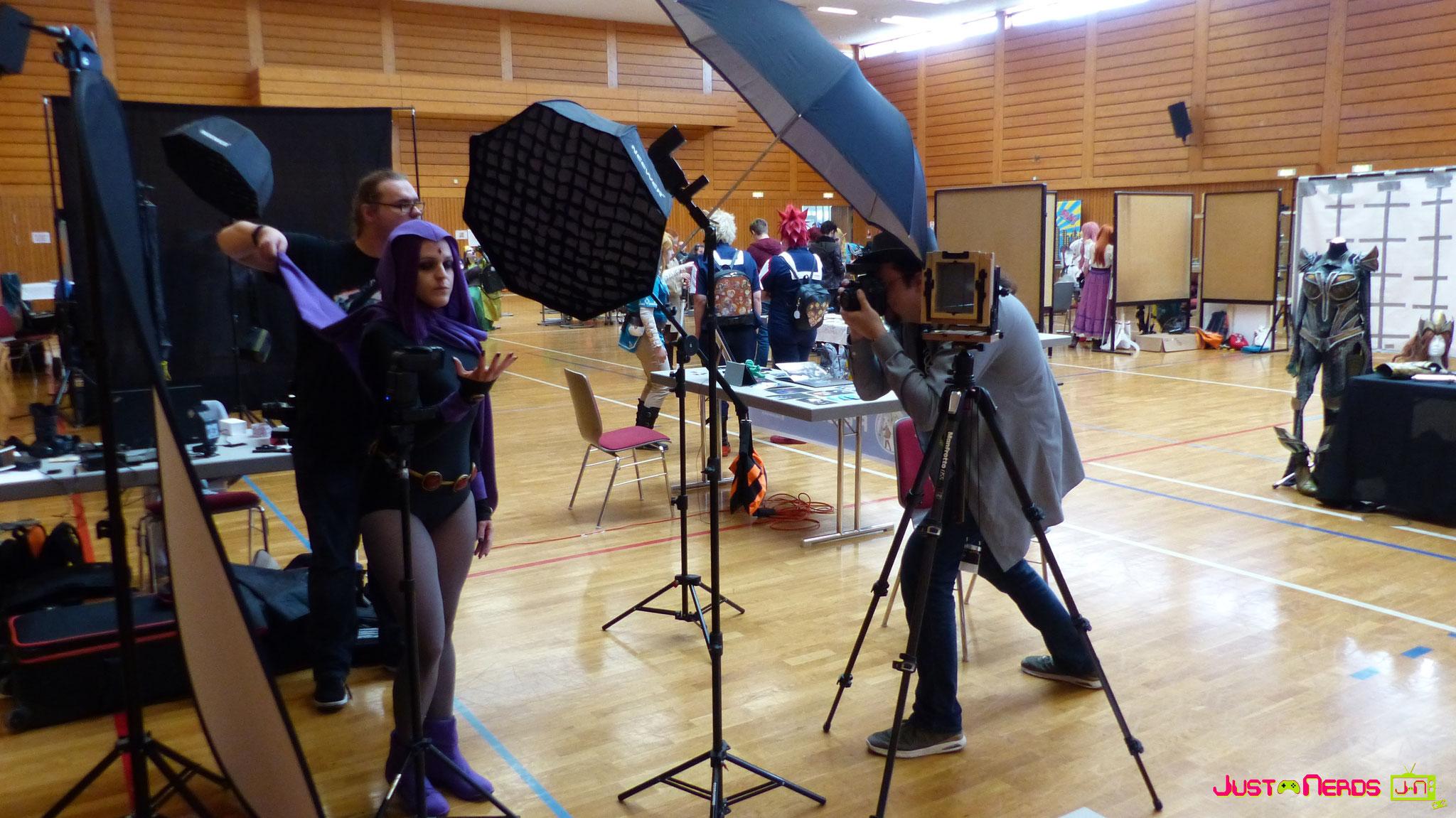 Die Profifotografen bei der Arbeit