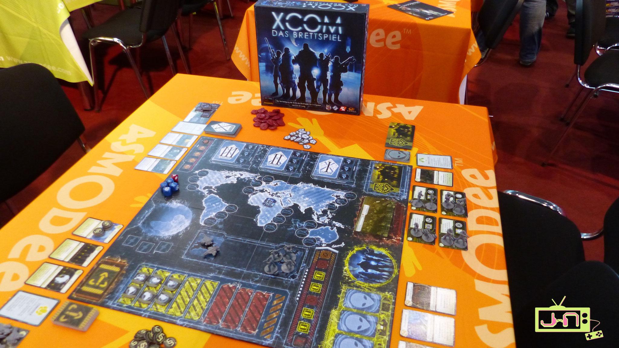 XCom als Brettspiel, läuft.