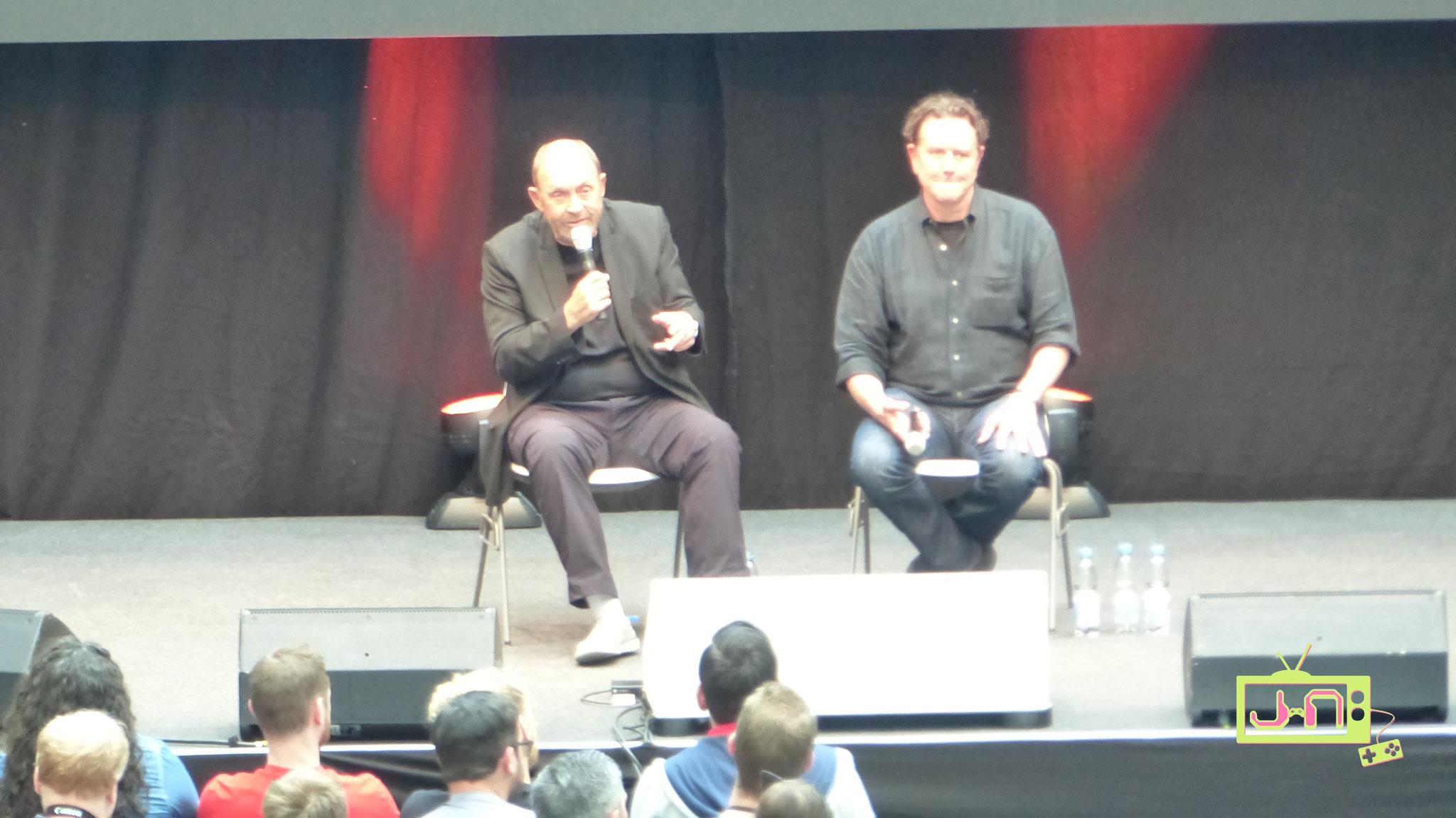 Judge und James beim Interview-Panel, leider keine Ankündigung für Beverly Hills Cop 4