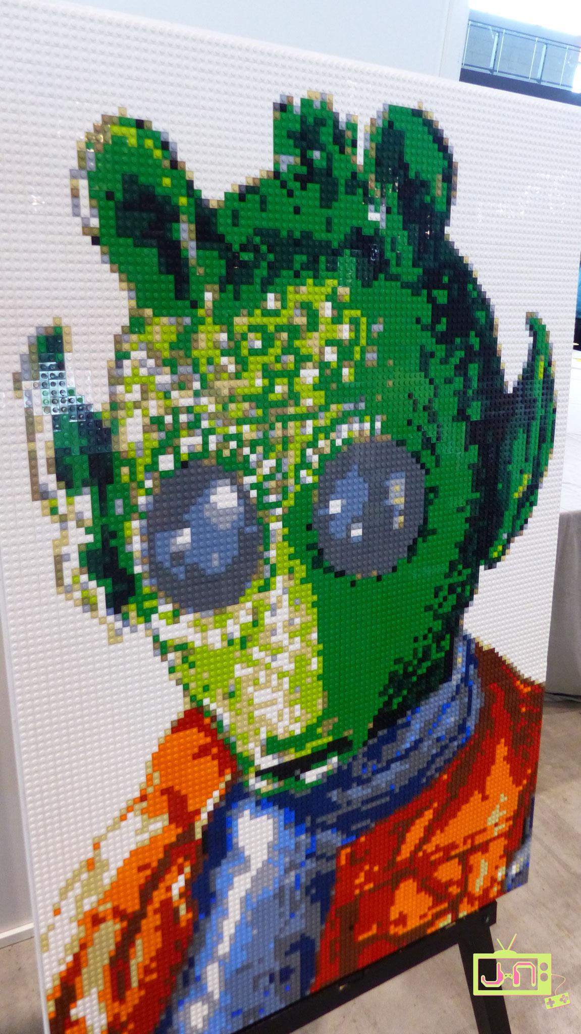 Mit Lego kann man auch Porträt