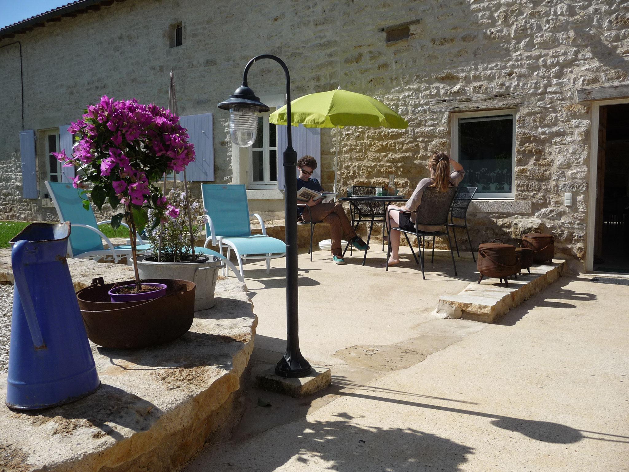 Gîte La Ponne, sur la terrasse