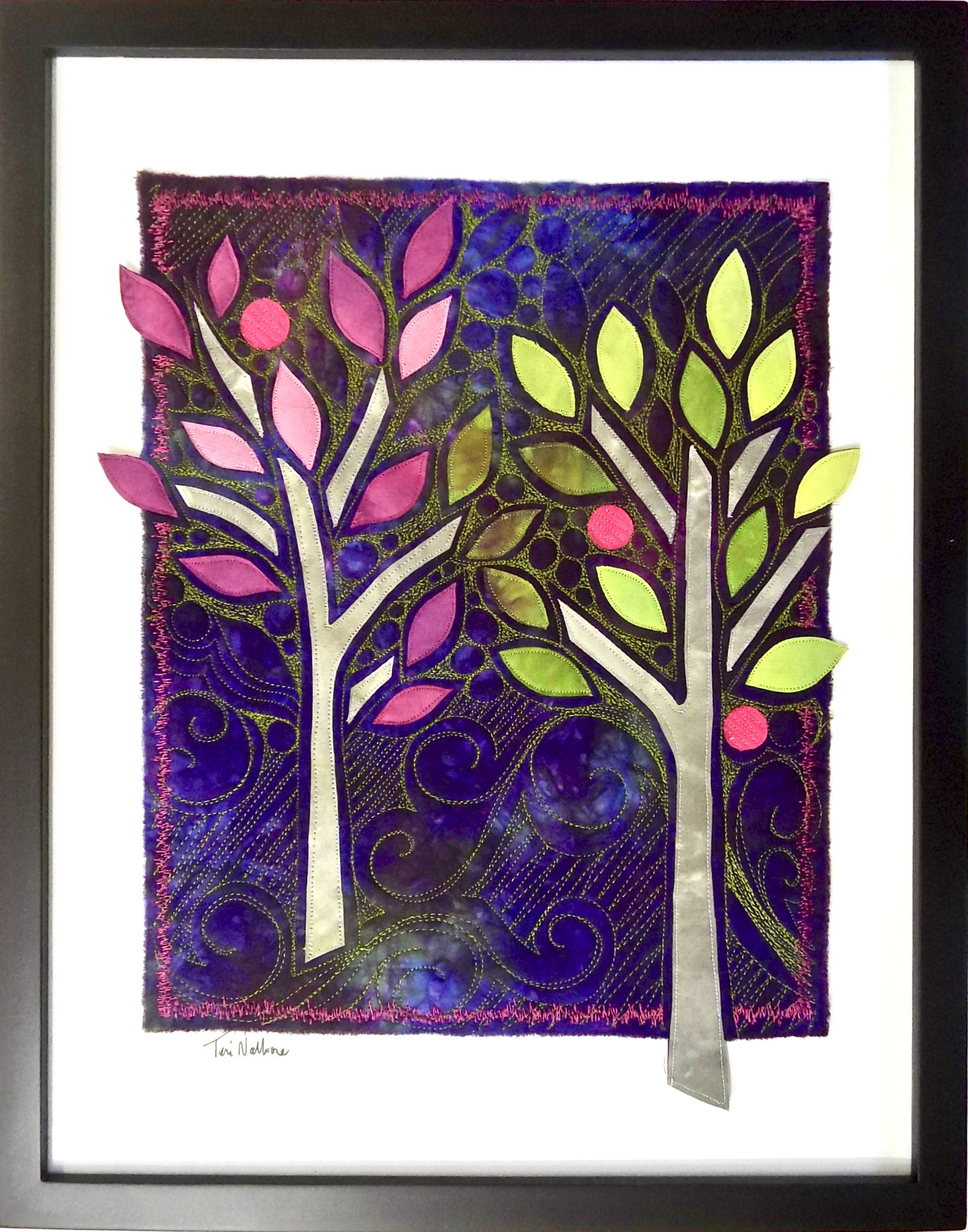 2 trees purple