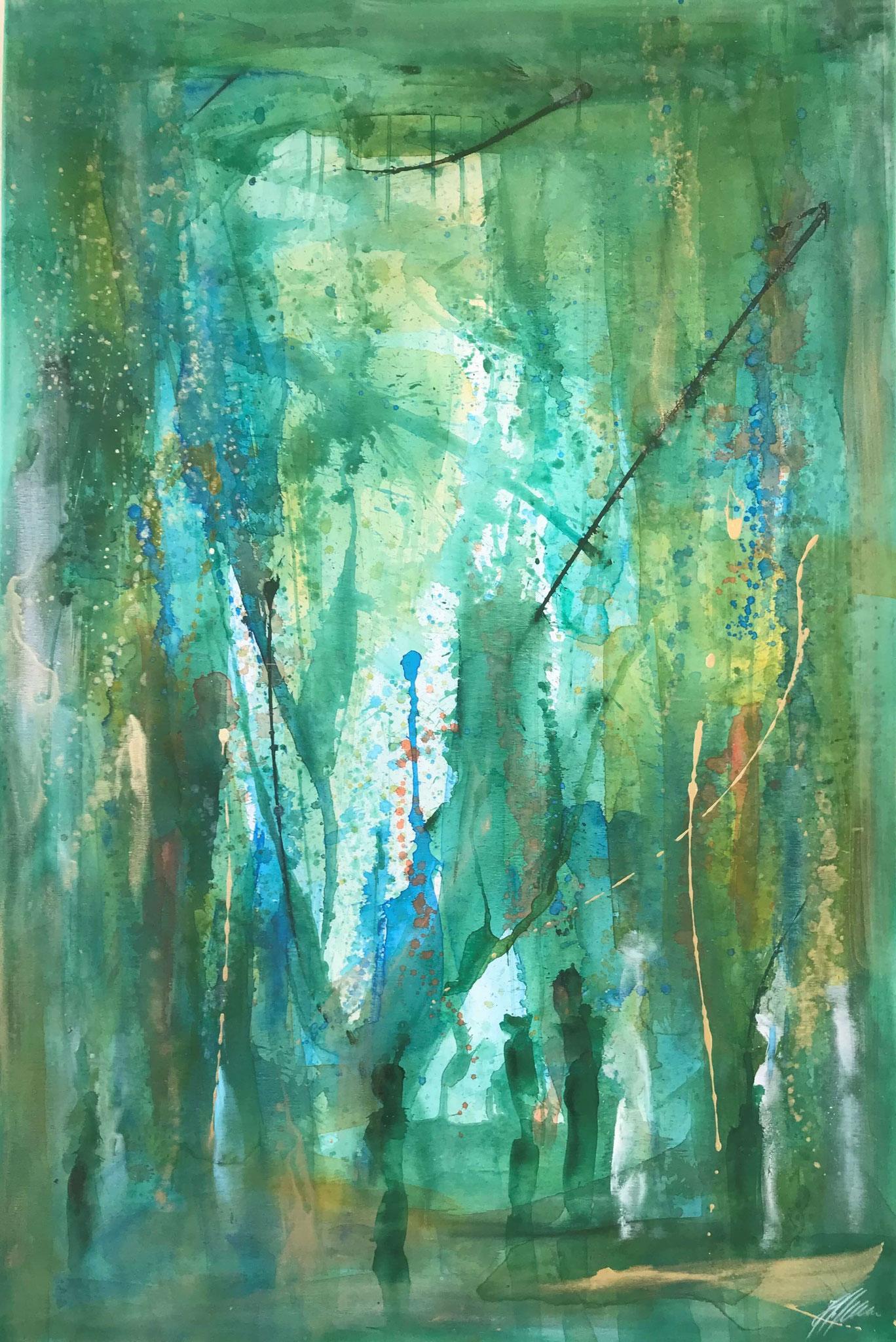 """""""Grün 4"""" Acryl auf Leinwand 120 x 150 cm."""