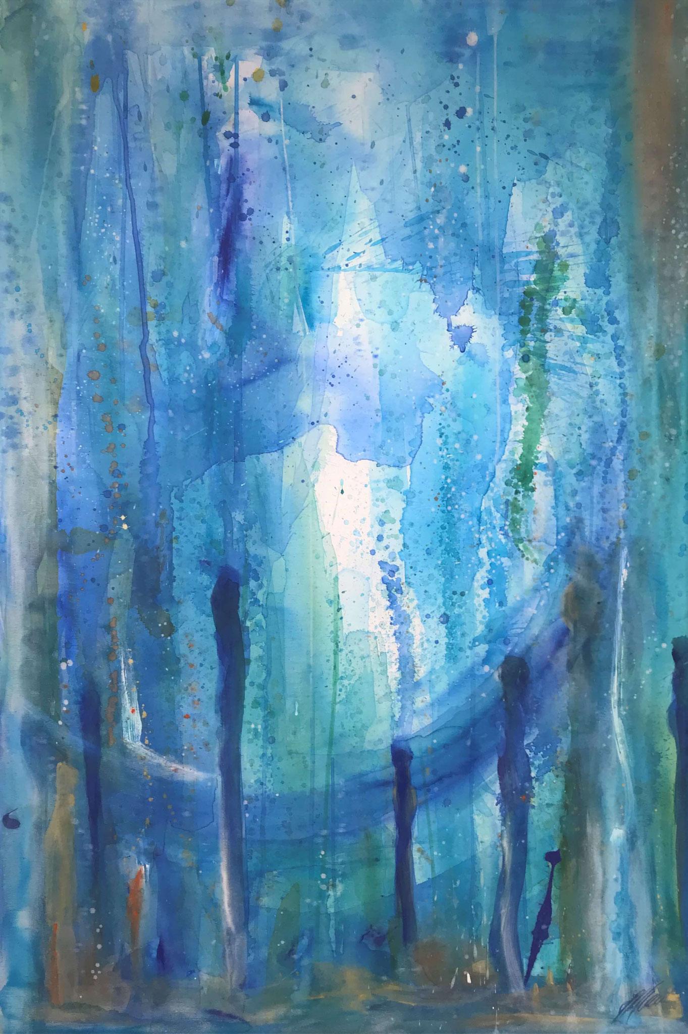 """""""Blau 4"""" Acryl auf Leinwand 120 x 150 cm."""