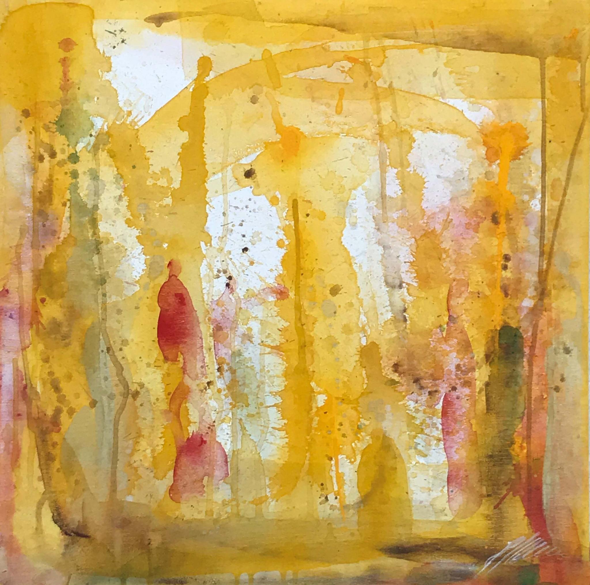 """""""Gelb 1"""" Acryl auf Leinwand 50 x 50 cm."""