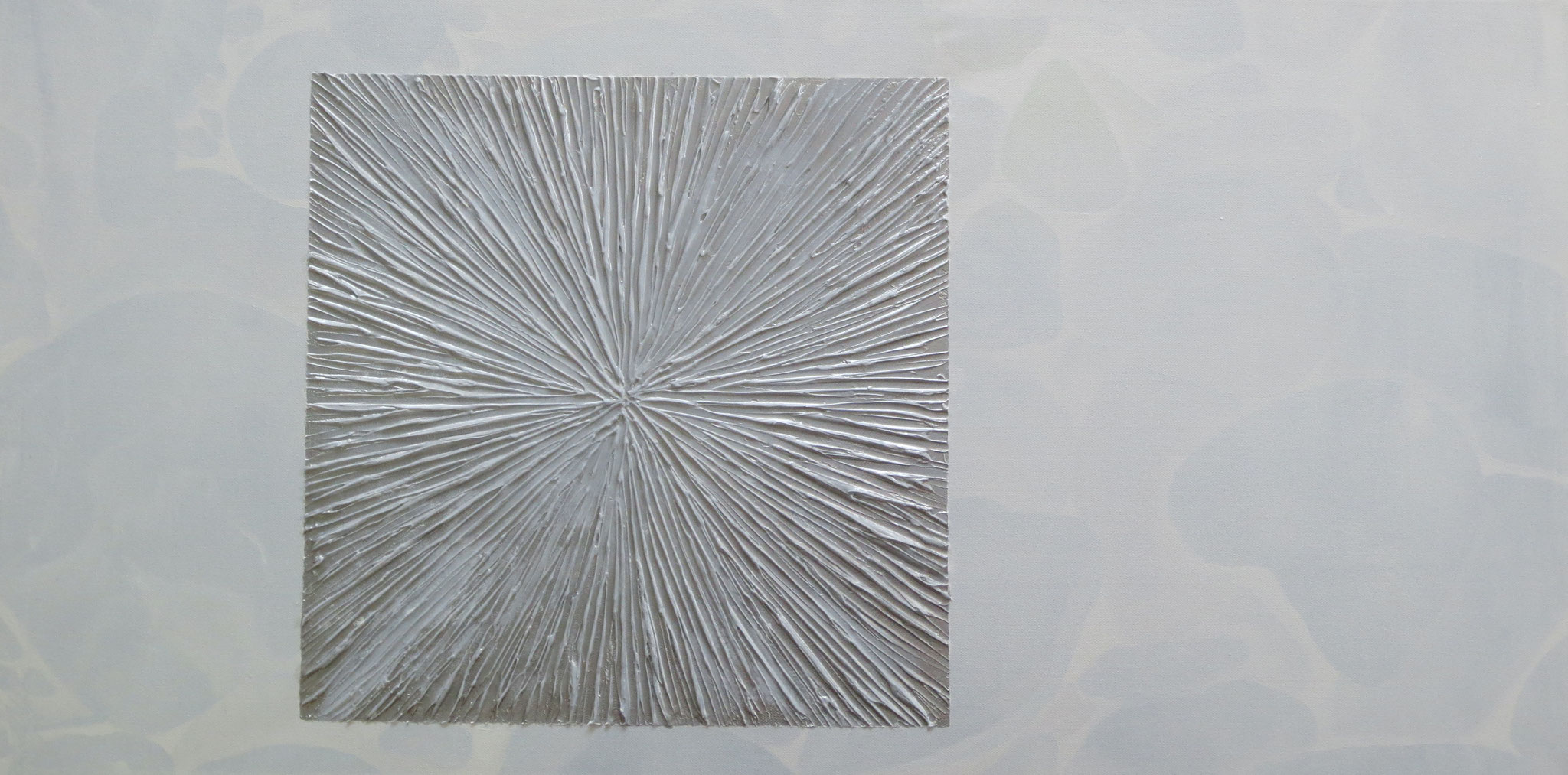 """""""Quadrat"""" Acryl auf Leinwand 50 x 100 cm."""