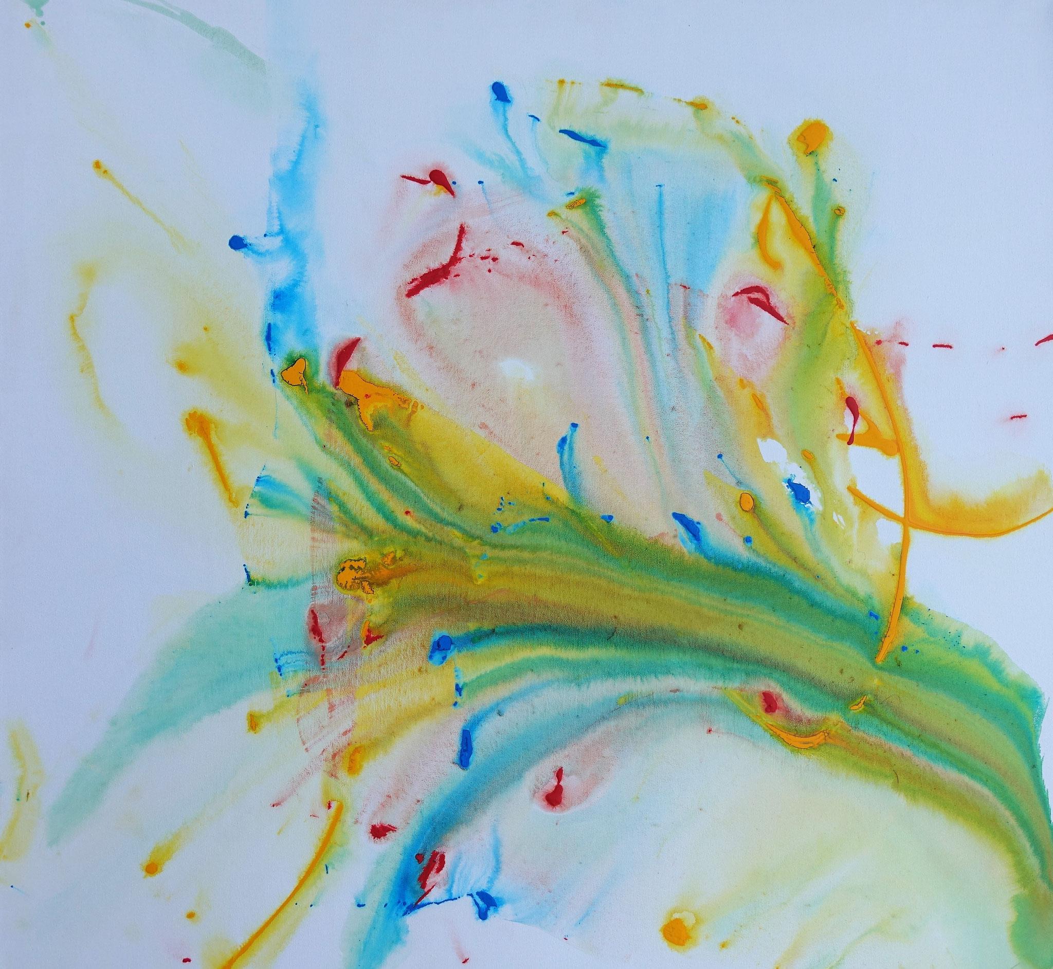 """""""Der einsame Wanderer"""" Acryl auf Leinwand 100 x 100 cm."""
