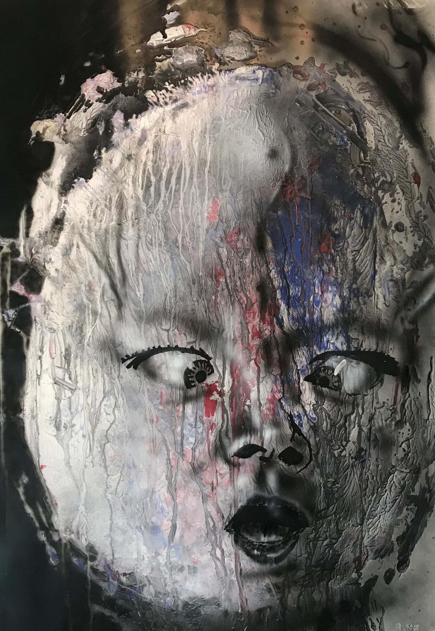 Fr. 850.00 Martin Gut, Spray auf Papier 70 x 99 cm.