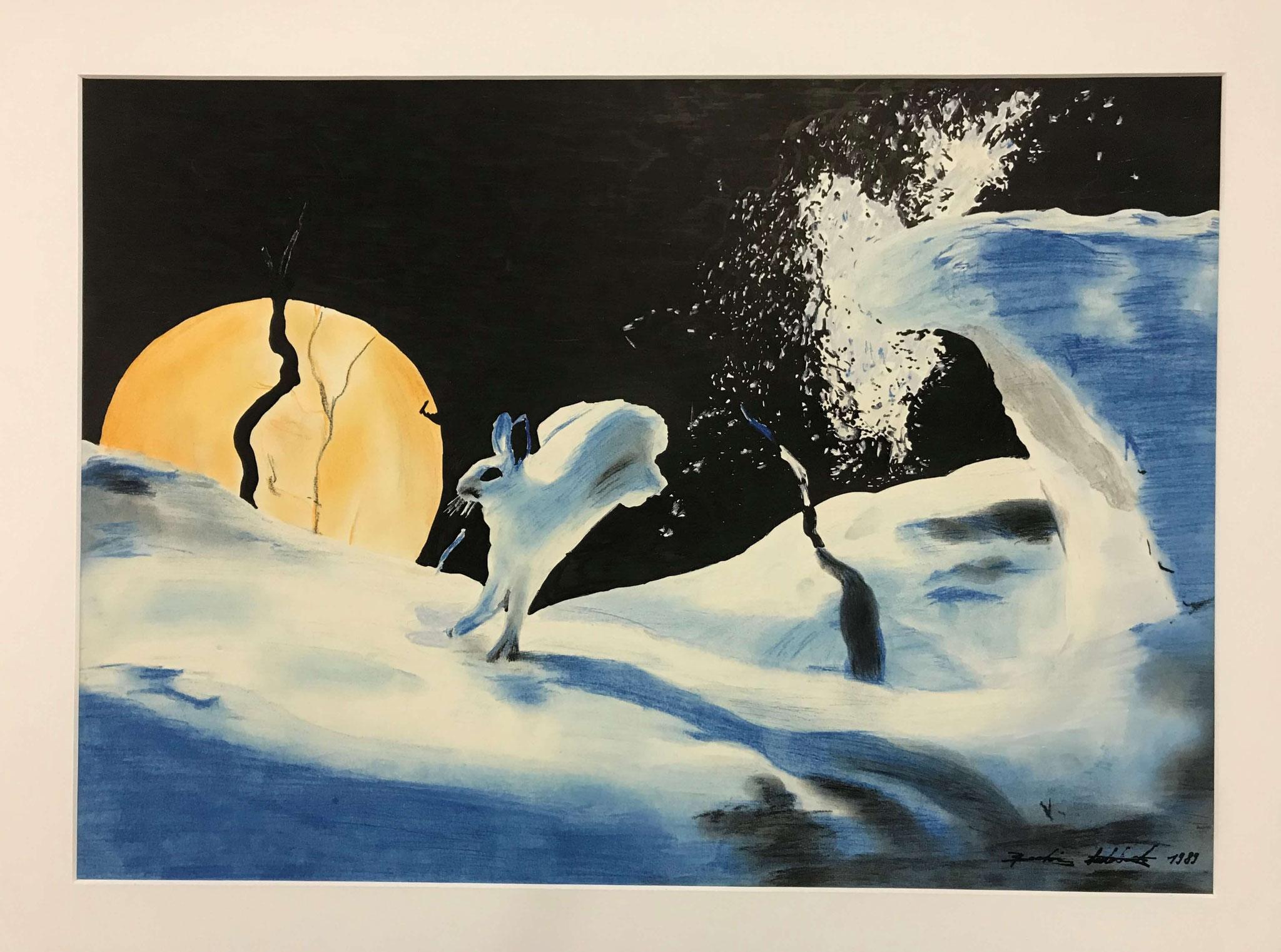 Fr. 350.00 Beatrice Subieck, Farbstifte auf Papier 65 x 52 cm.