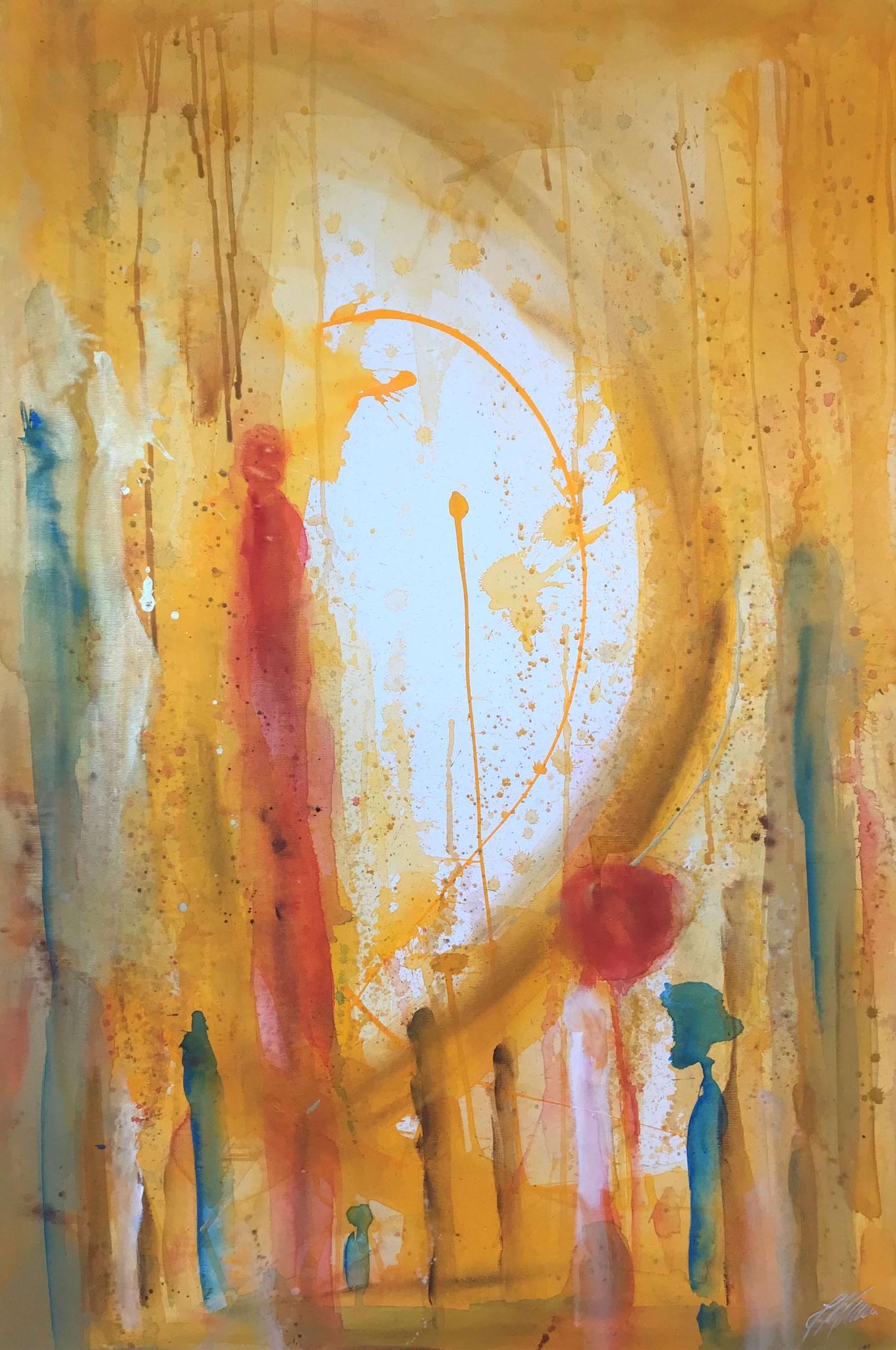 """""""Gelb 4"""" Acryl auf Leinwand 120 x 150 cm."""