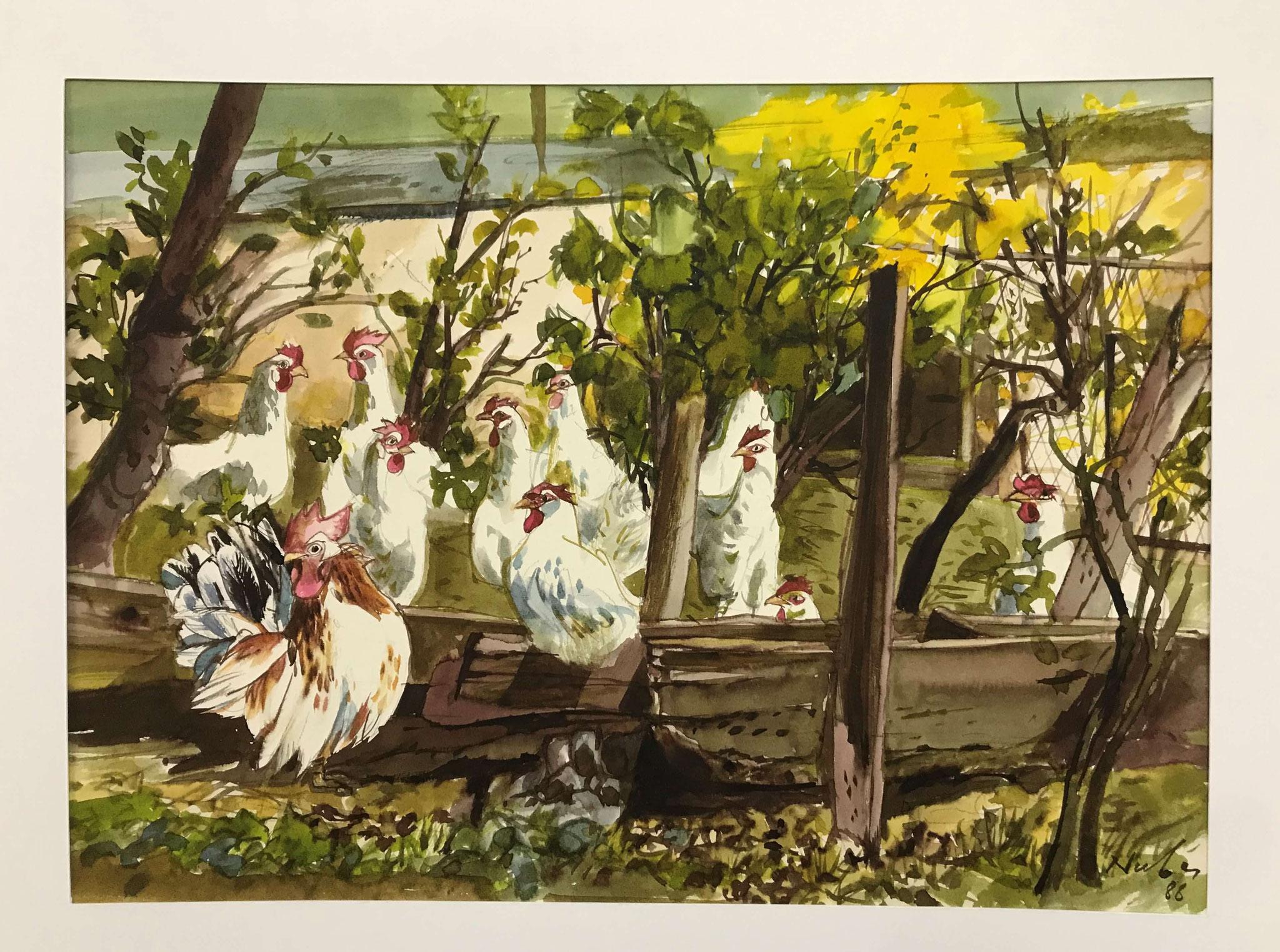 Fr. 750.00 Marcel Nuber,  Aquarelle 23 x 30 cm.