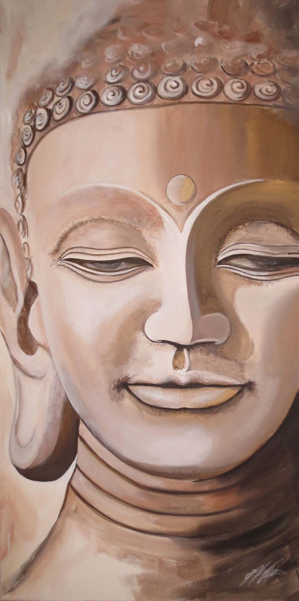 """Buddha lounge"" Acryl auf Leinwand 50 x 100 cm."