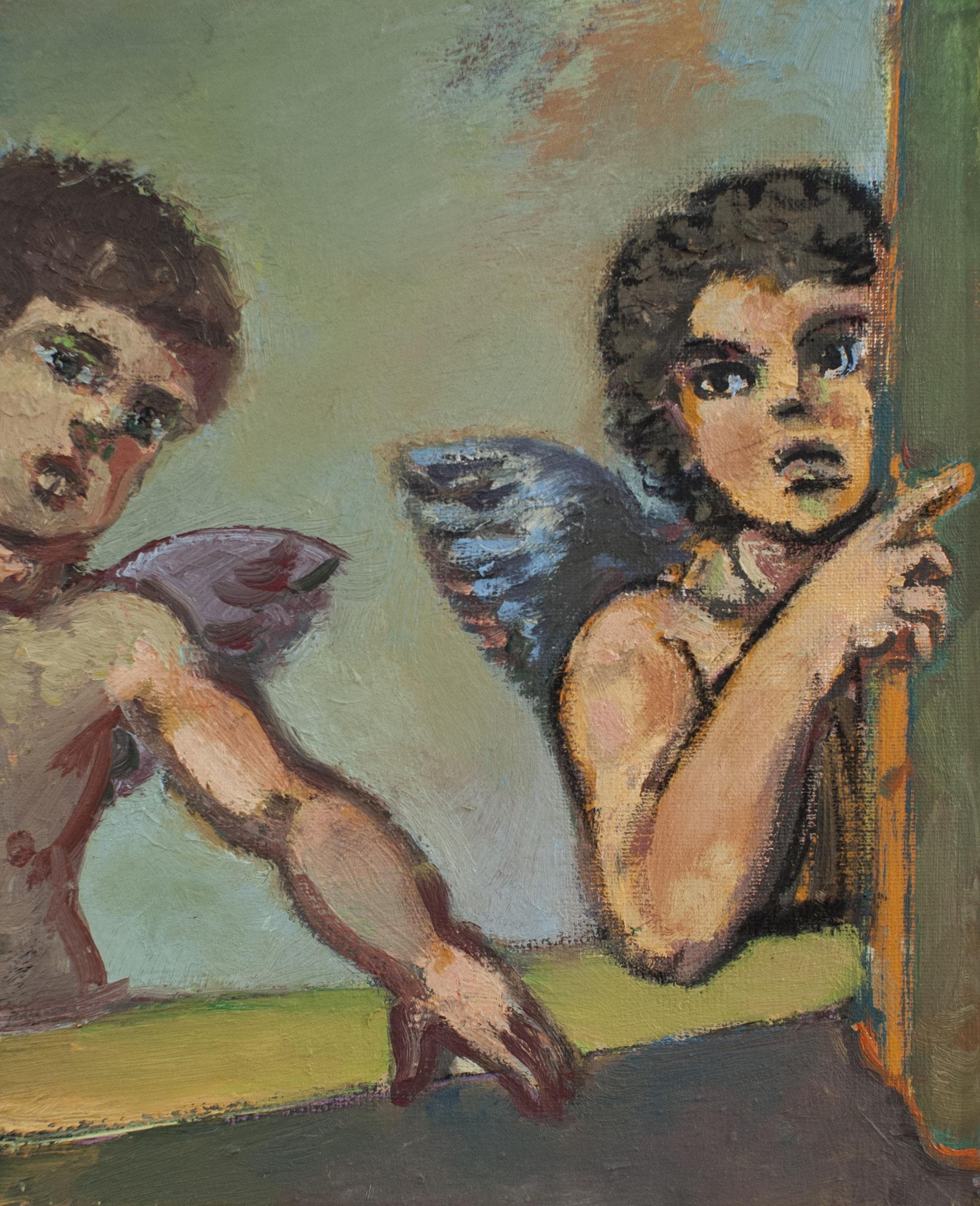 Die Lauschenden; 2010, Öl auf Leinwand, 30cm x 24cm