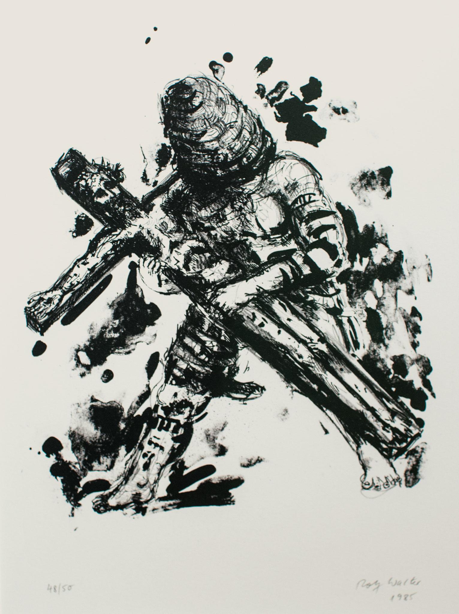 Der Aufruf; 1985, Lithographie, 41cm x 32cm