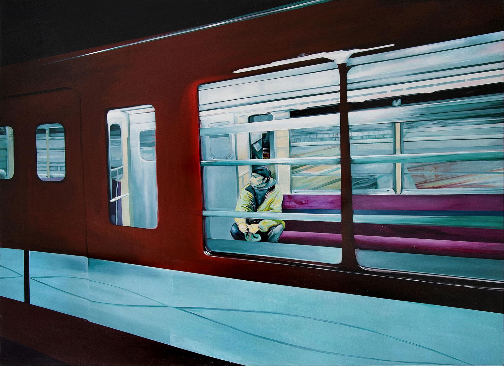 Pasajero 130 cm x 180 cm Acryl auf Leinwand 2005