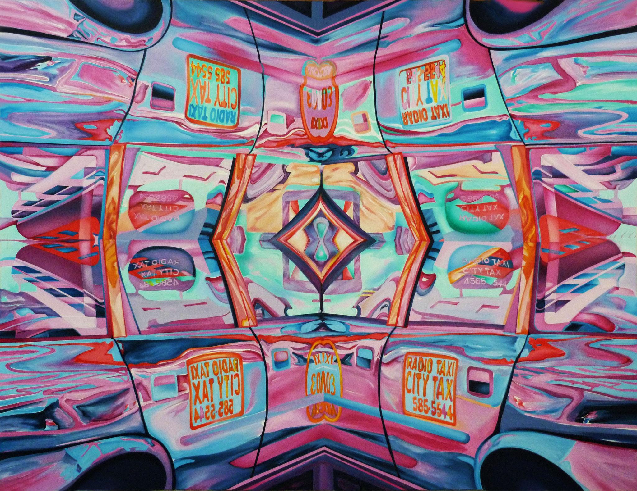 Caloido Taxi 133 cm x 173 cm Acryl auf Leinwand 2011