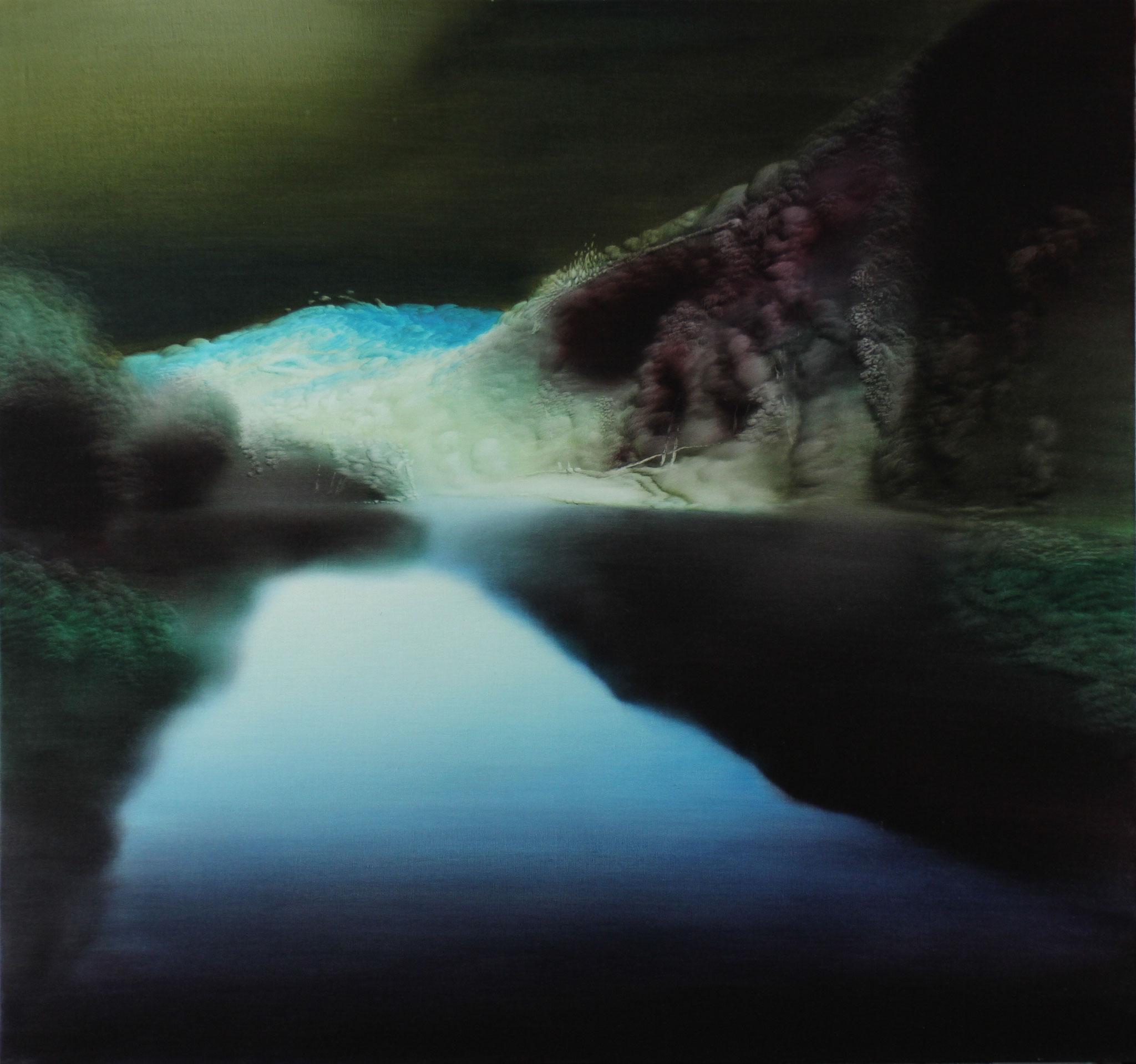 Türkisblau, 2006, Öl auf Leinwand, 140cm x 150cm