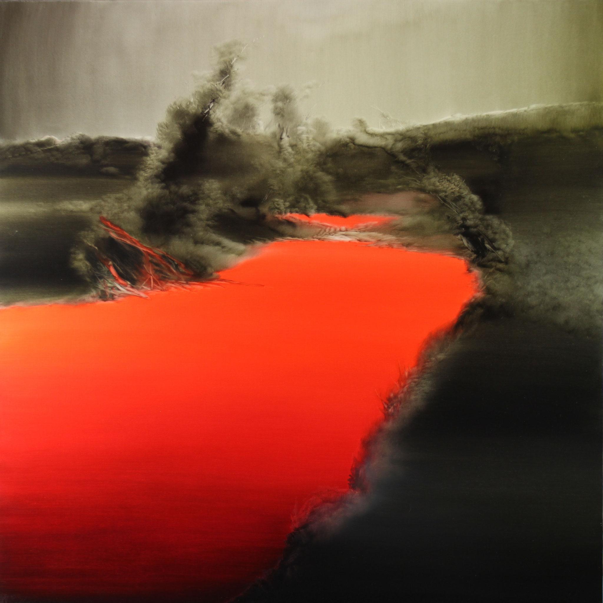 Rot, 2016, Öl auf Leinwand, 190cm x 190cm