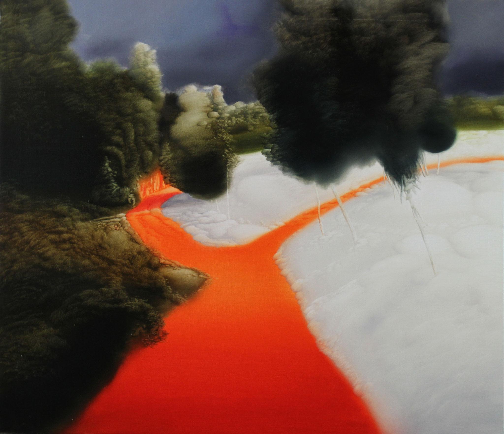 Weiß Orange, 2005, Öl auf Leinwand, 90cm x 105cm