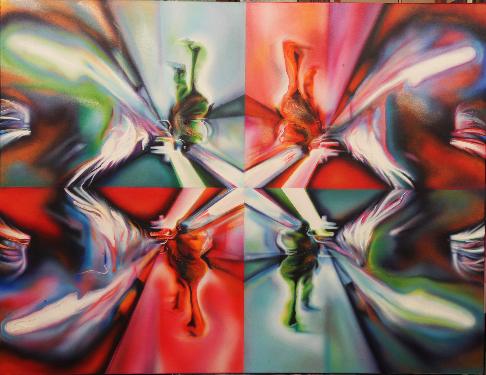Caloido Rojo y Verde 133 cm x 173 cm Acryl auf Leinwand 2011
