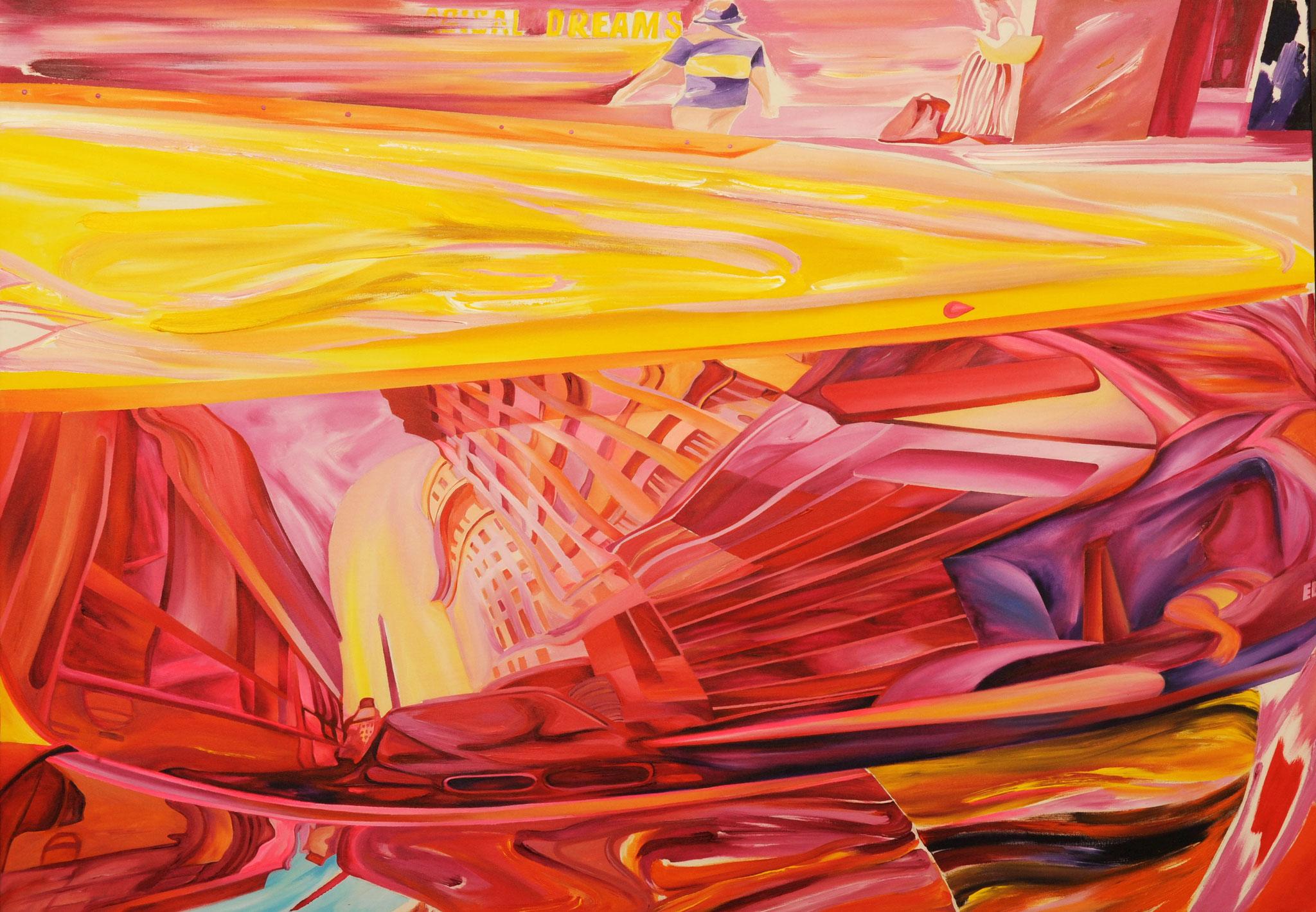 El Hincha 105 cm x 150 cm Acryl auf Leinwand 2016