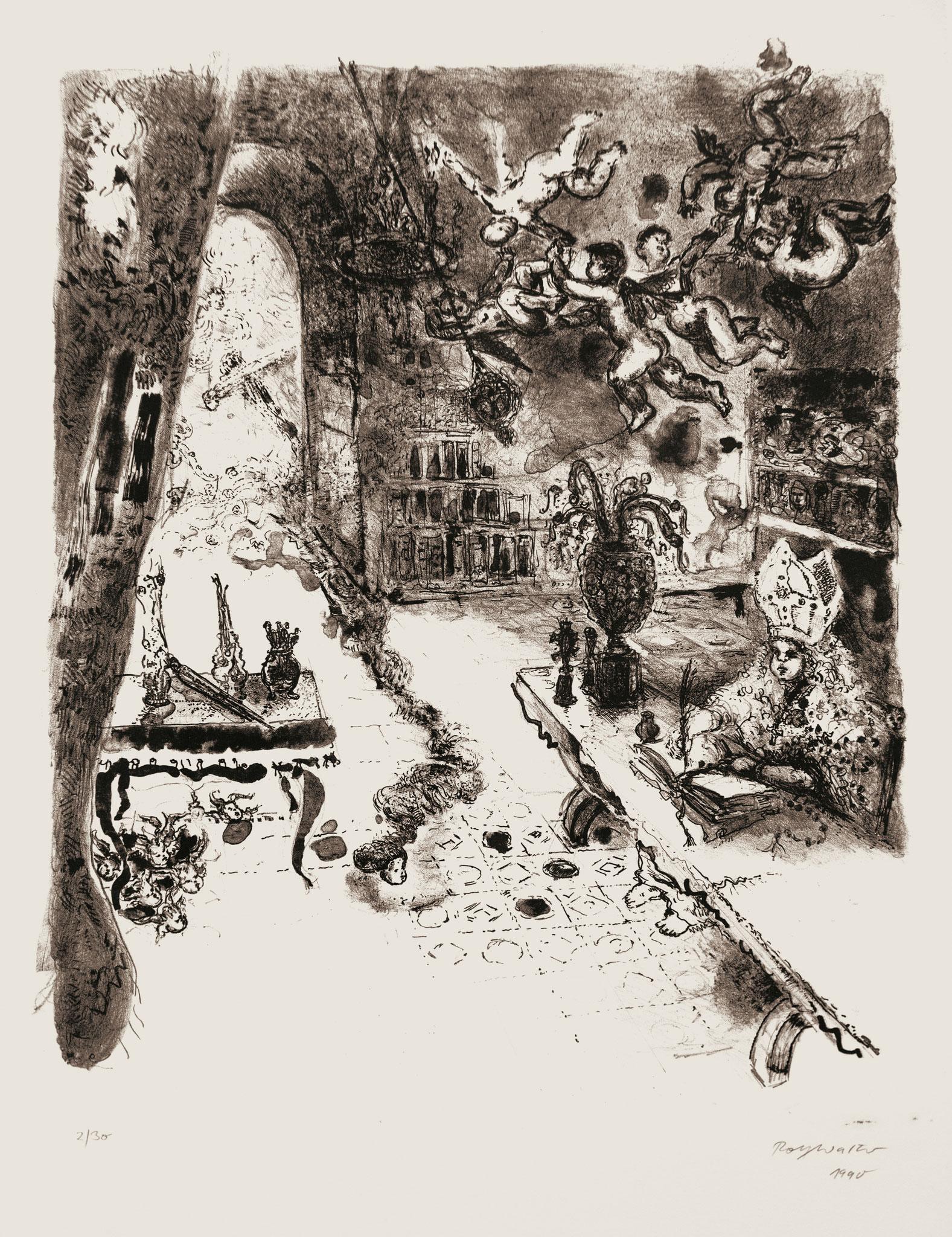 o.T. 1990, Lithographie, 58cm x 44cm