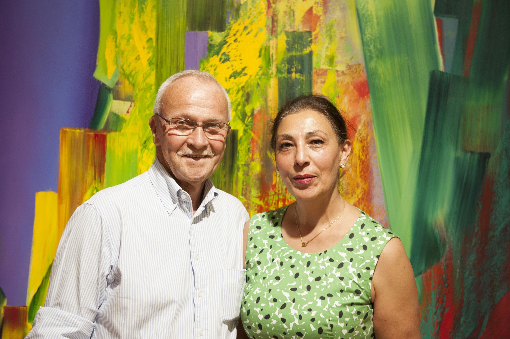 Galeristin Frau Ayten Bozbay; Joachim Gerschler