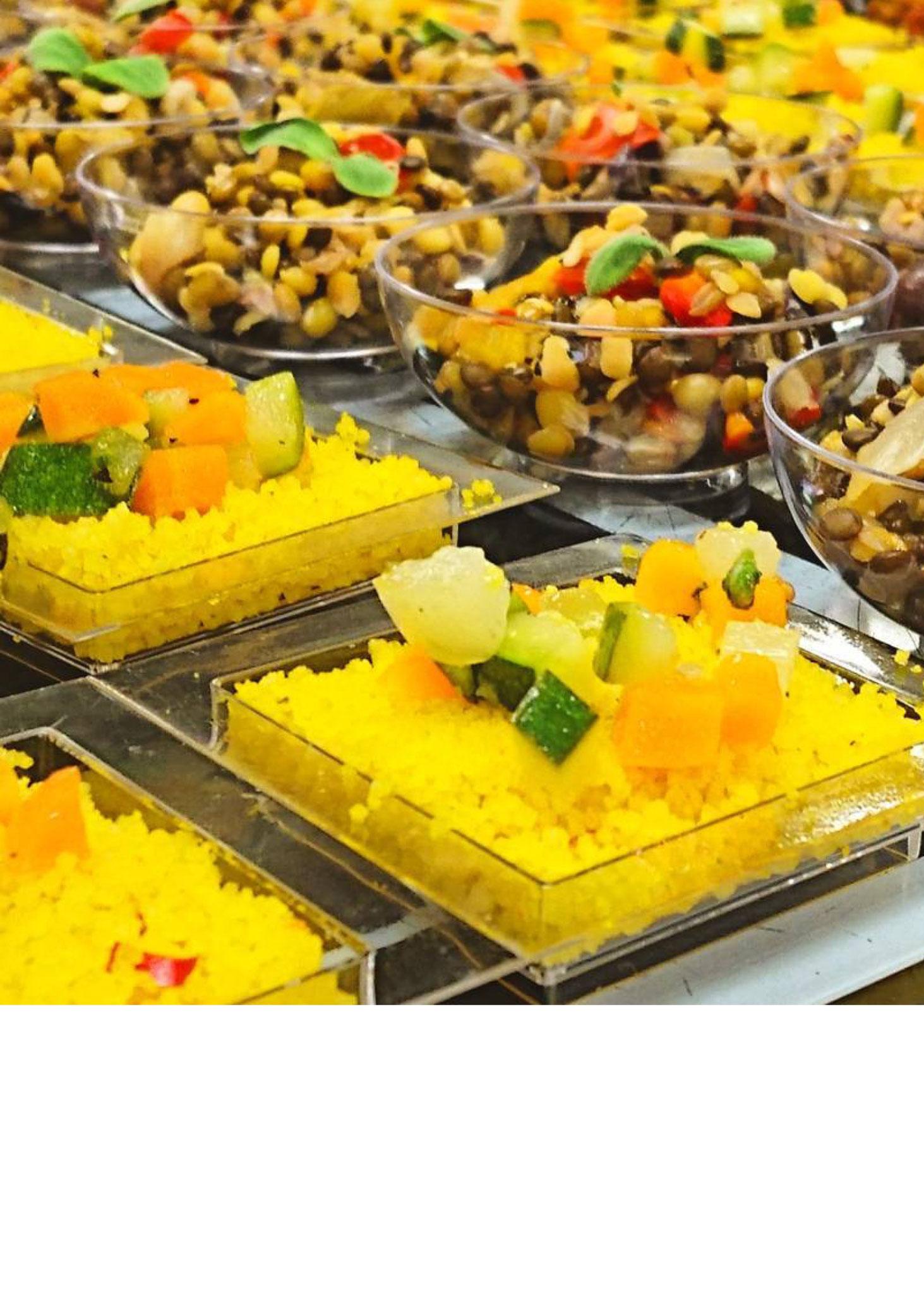 Der Safran Couscous strahlt nicht nur, er schmeckt auch vorzüglich.