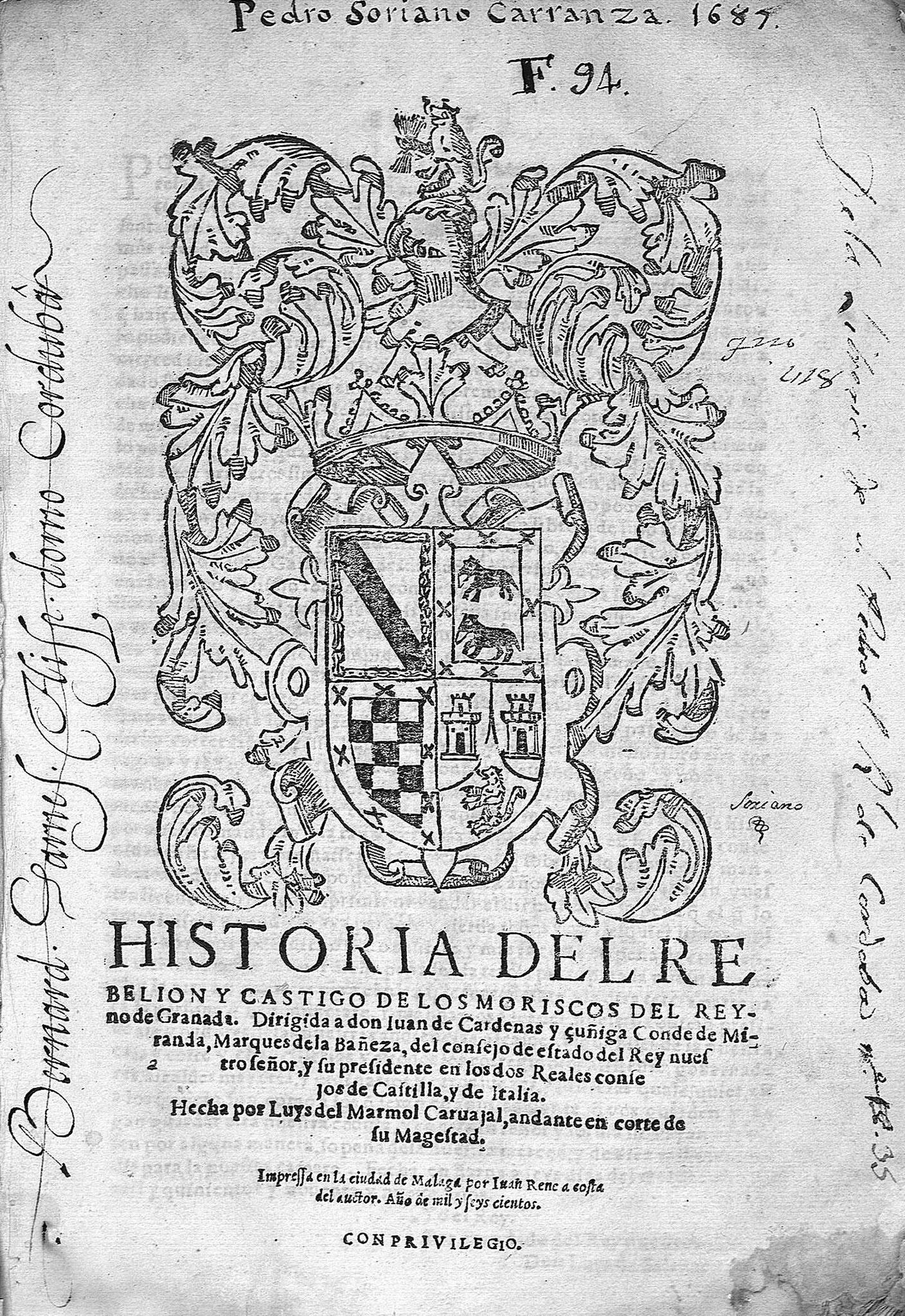 Historia de la rebelión y castigo de los moriscos del Reyno de Granada