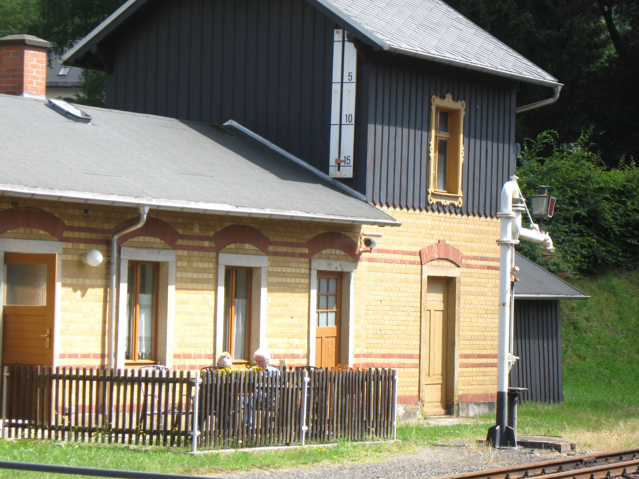 FW im alten Bahnhofsgebäude