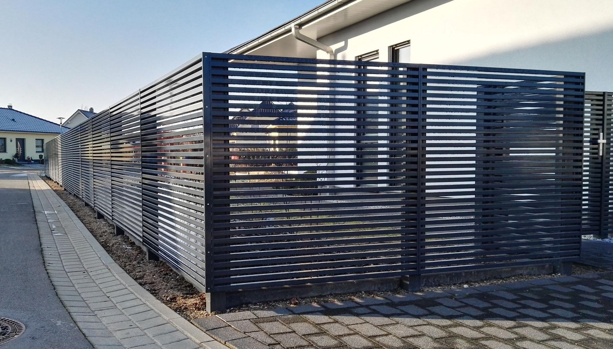 Sichtschutz Wpc Gabionen Zaunbau Fischer
