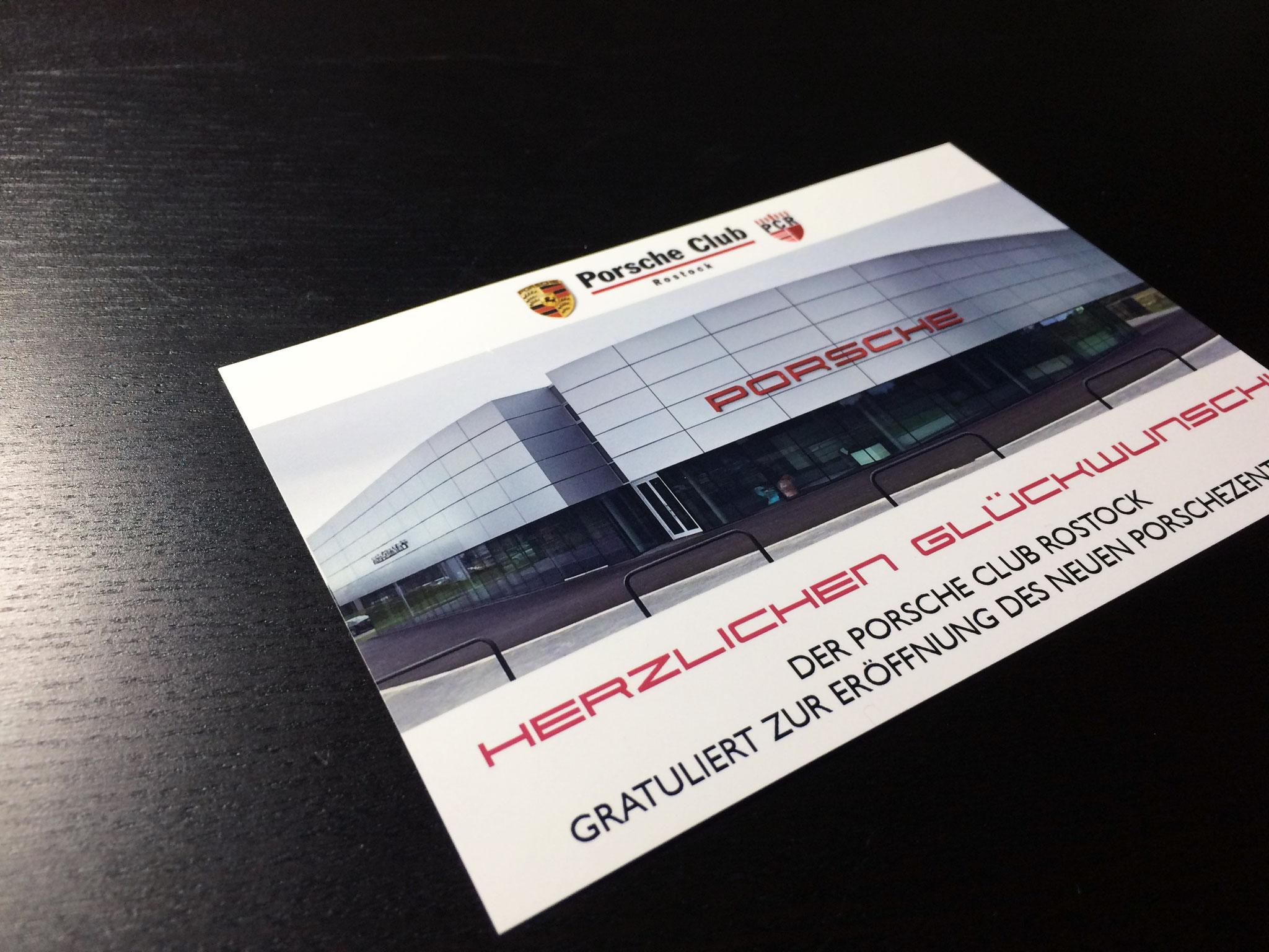 Gestaltung Glückwunschkarte nach Corporate Design Richtlinien