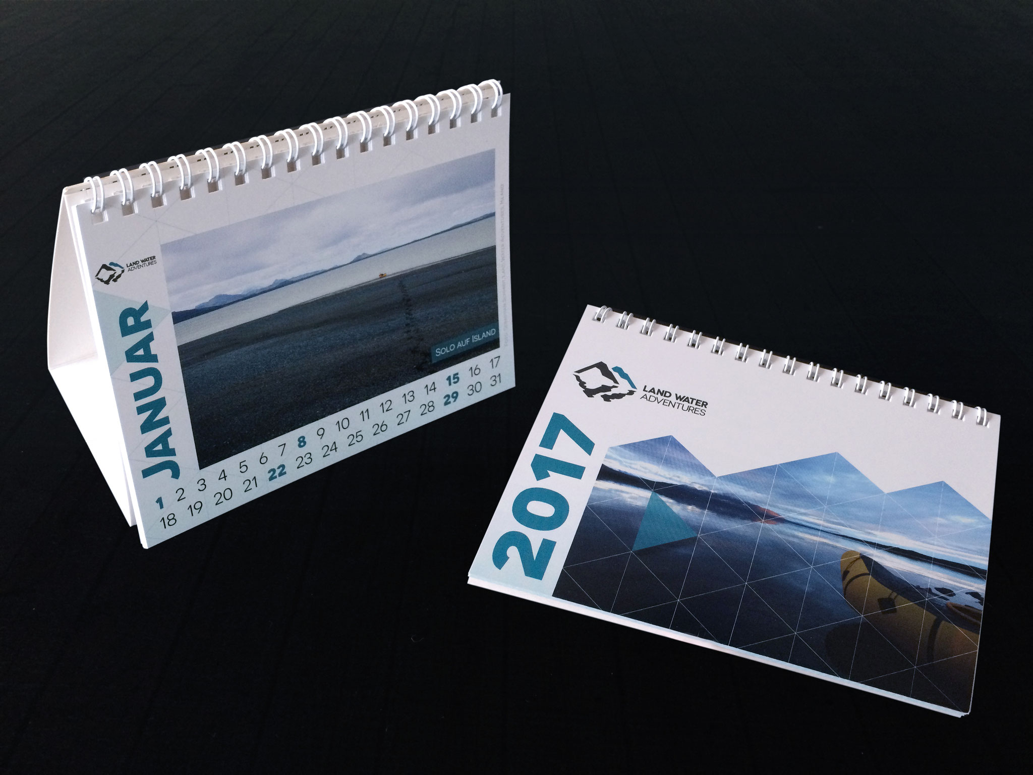 Gestaltung Kalender Tischkalender DIN A6 Format im neuen Corporate Design