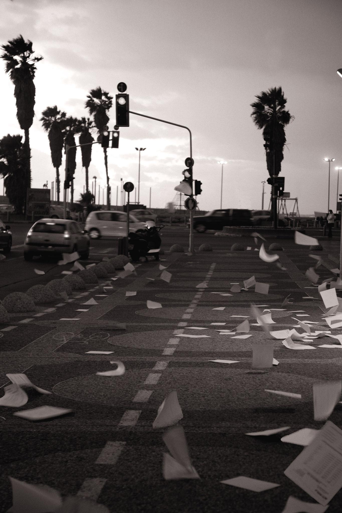 Vespa verliert ihre Ladung, Tel Aviv
