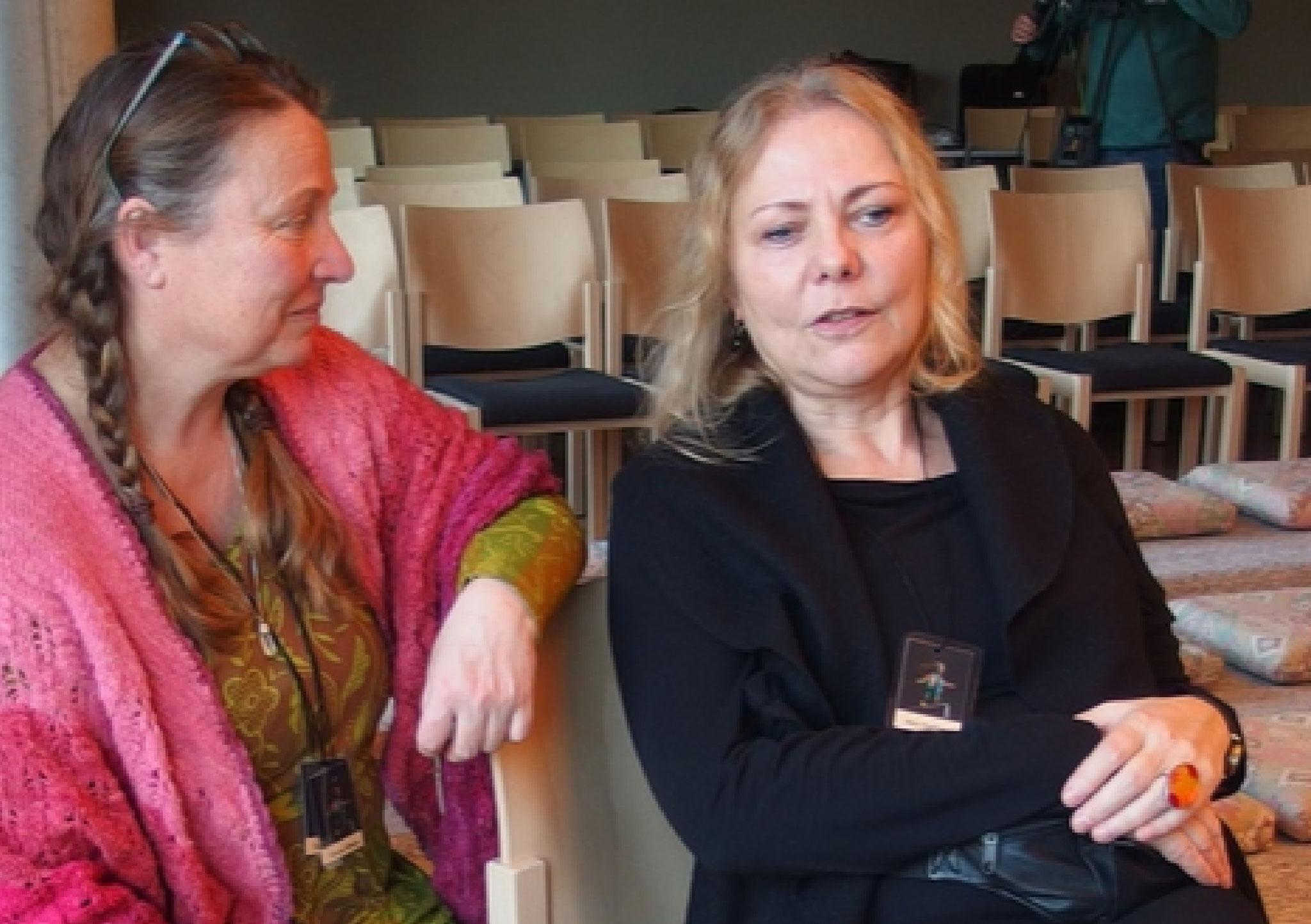Schona Mihalys und Petra Kleefeld...