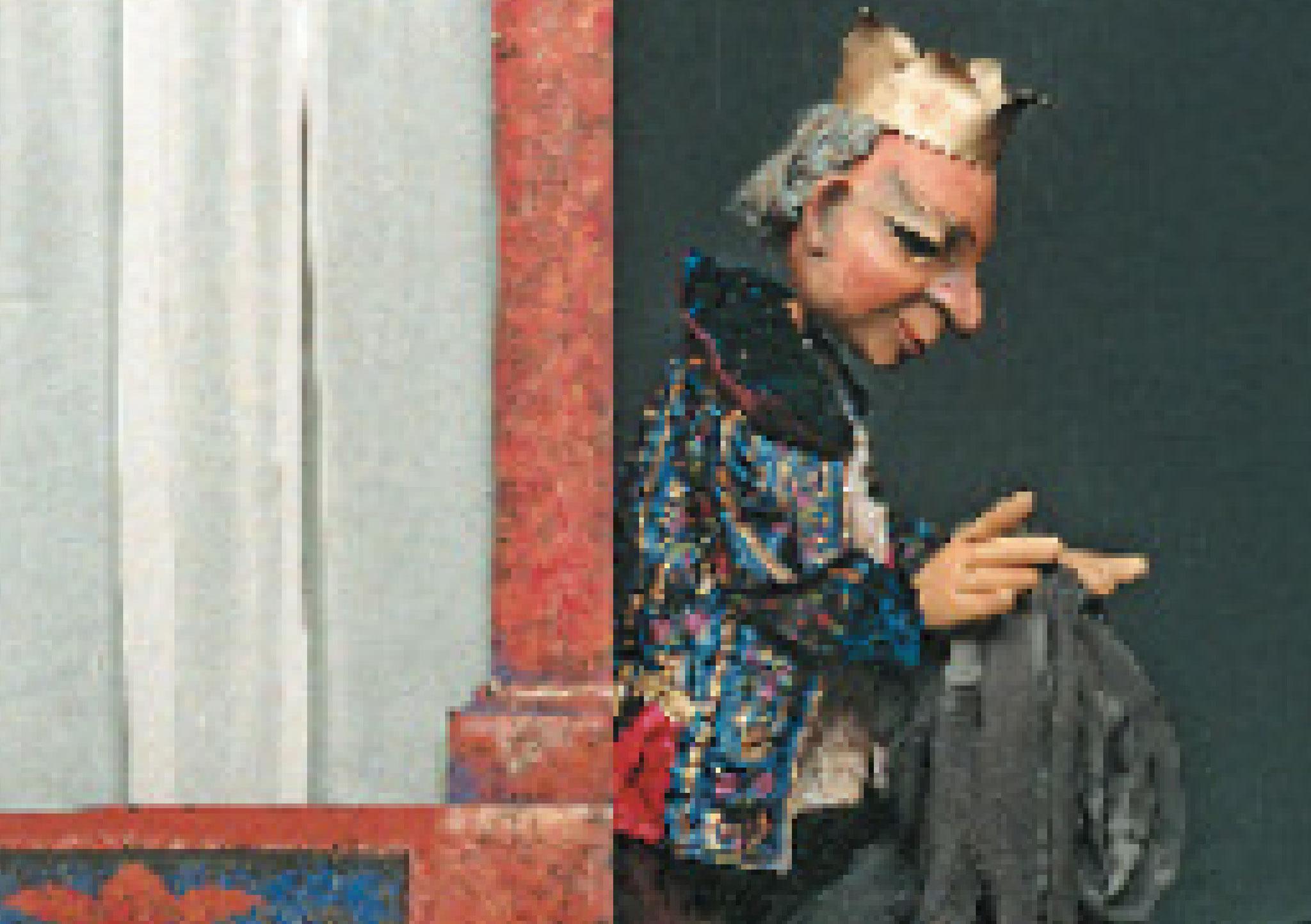 In der nächsten Nacht wachte der König. Er nahm die Haut und liess sie verbrennen – bis nichts mehr übrig war.