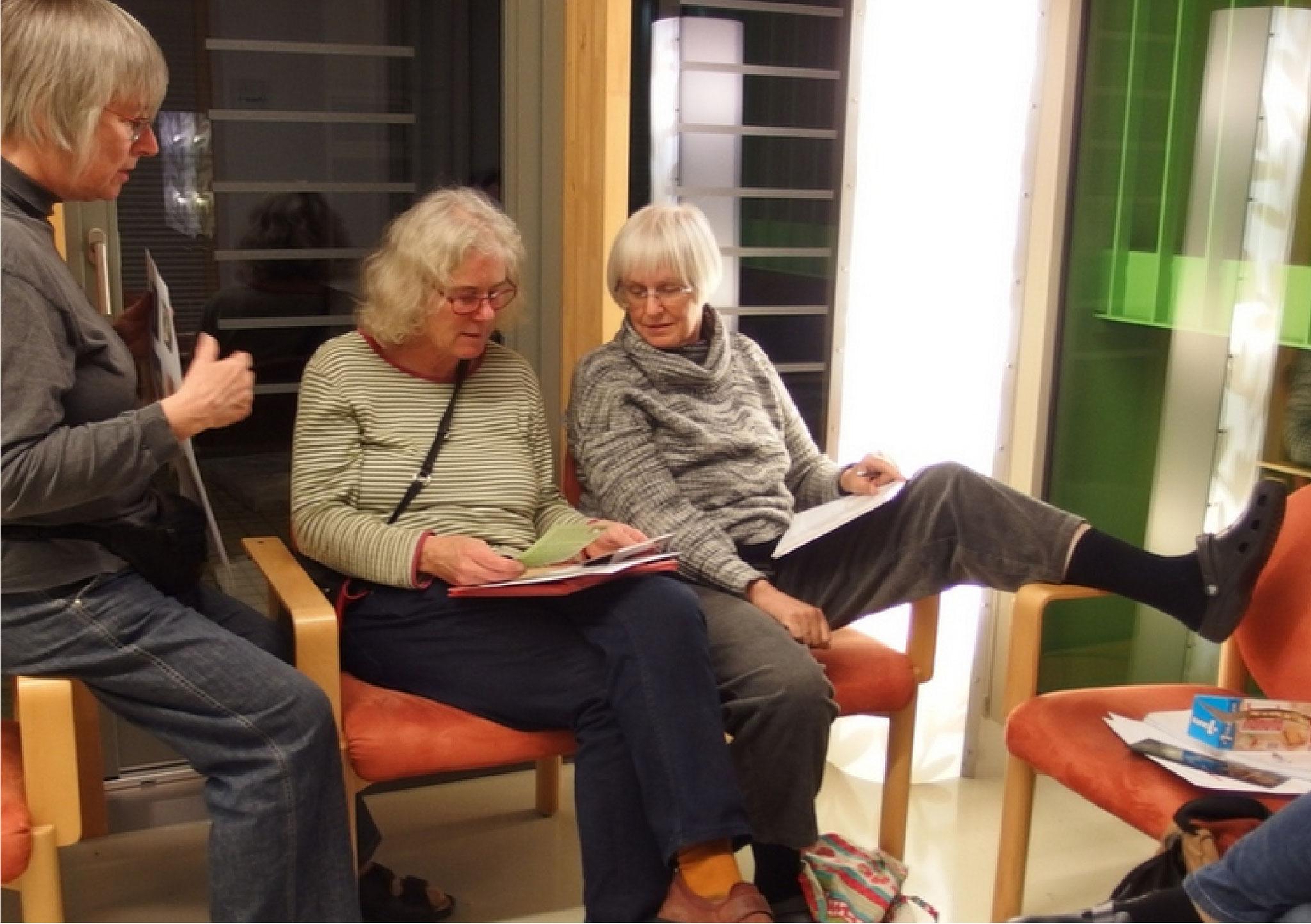 Tatiana von Stülpnagel, Marlene Gmelin und Elisabeth Schnorr...