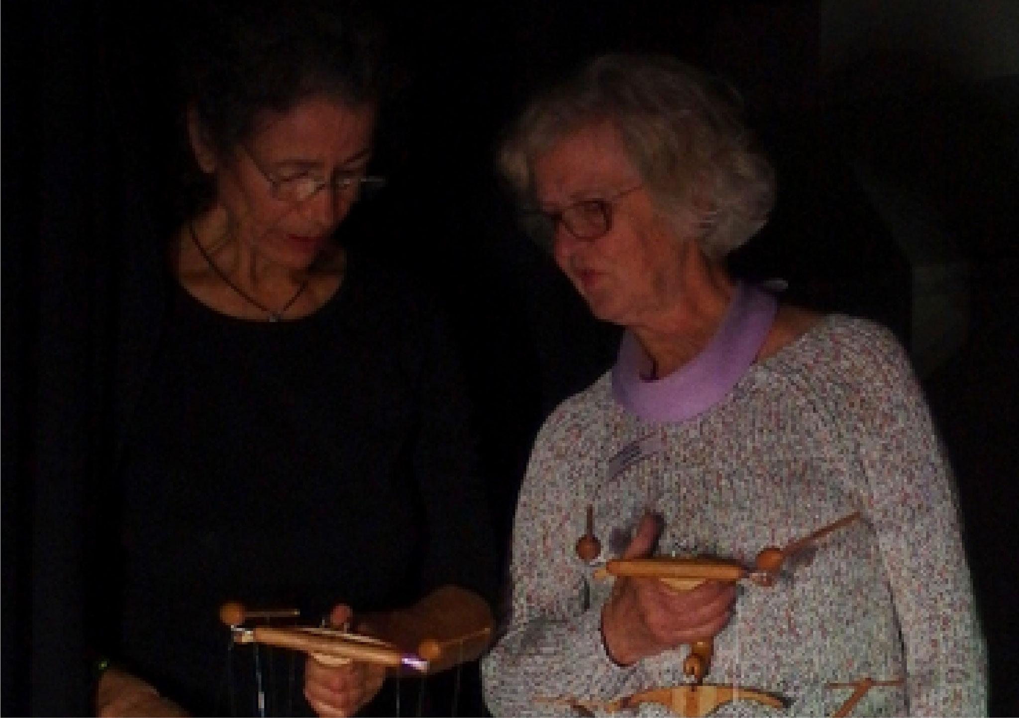 Catherine Cunz und Elisabeth Kirberg...