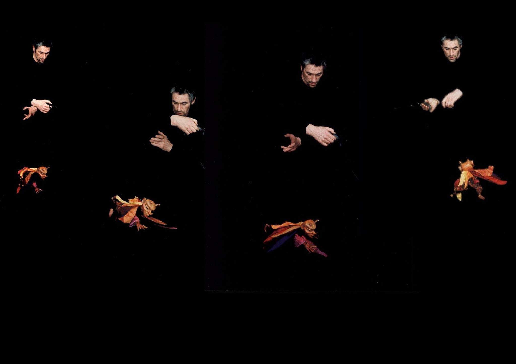 Virtuoser Tanz mit dem Feuerteufel.