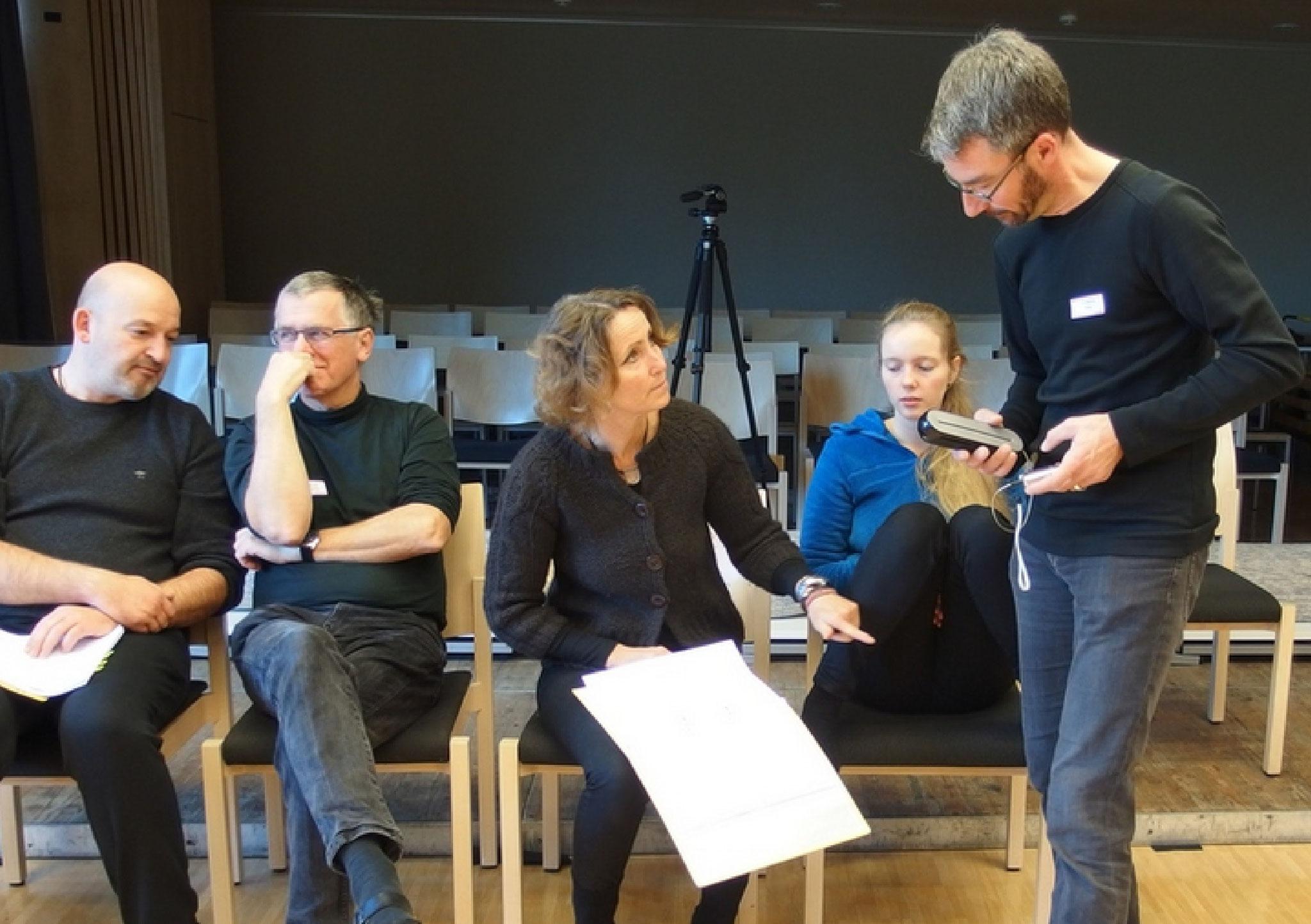 Rafael Scheu, Gernot Kunze, Sabine Roth, Sarah Roth und Jörg Podewil...