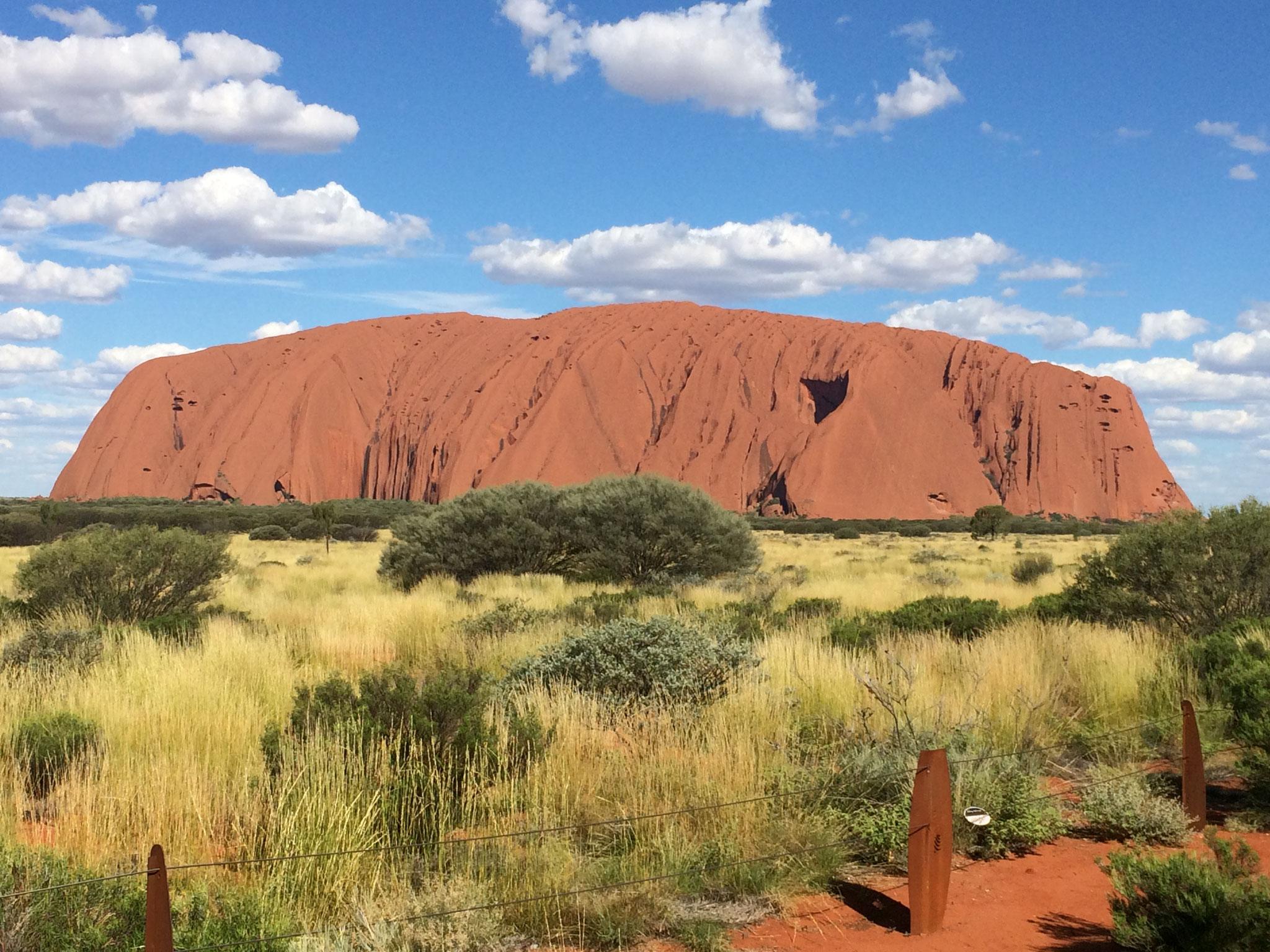 Uluru typisch rot