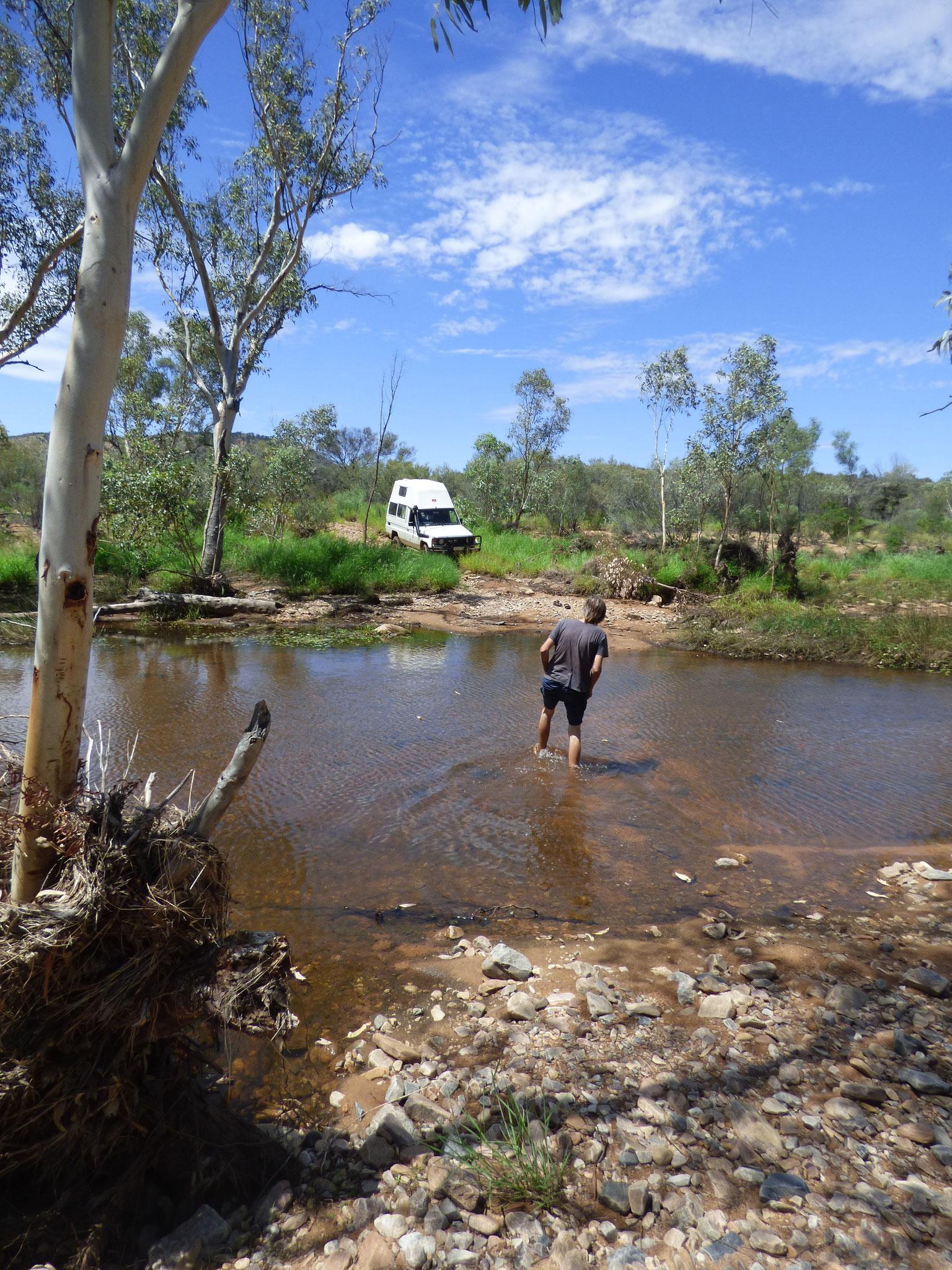 3: um den  Fluss zu Fuß abzuschecken