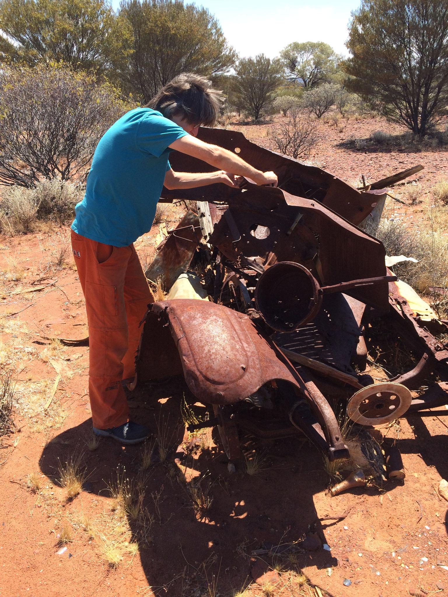 Manchmalgibt es Reparaturstau am Motor