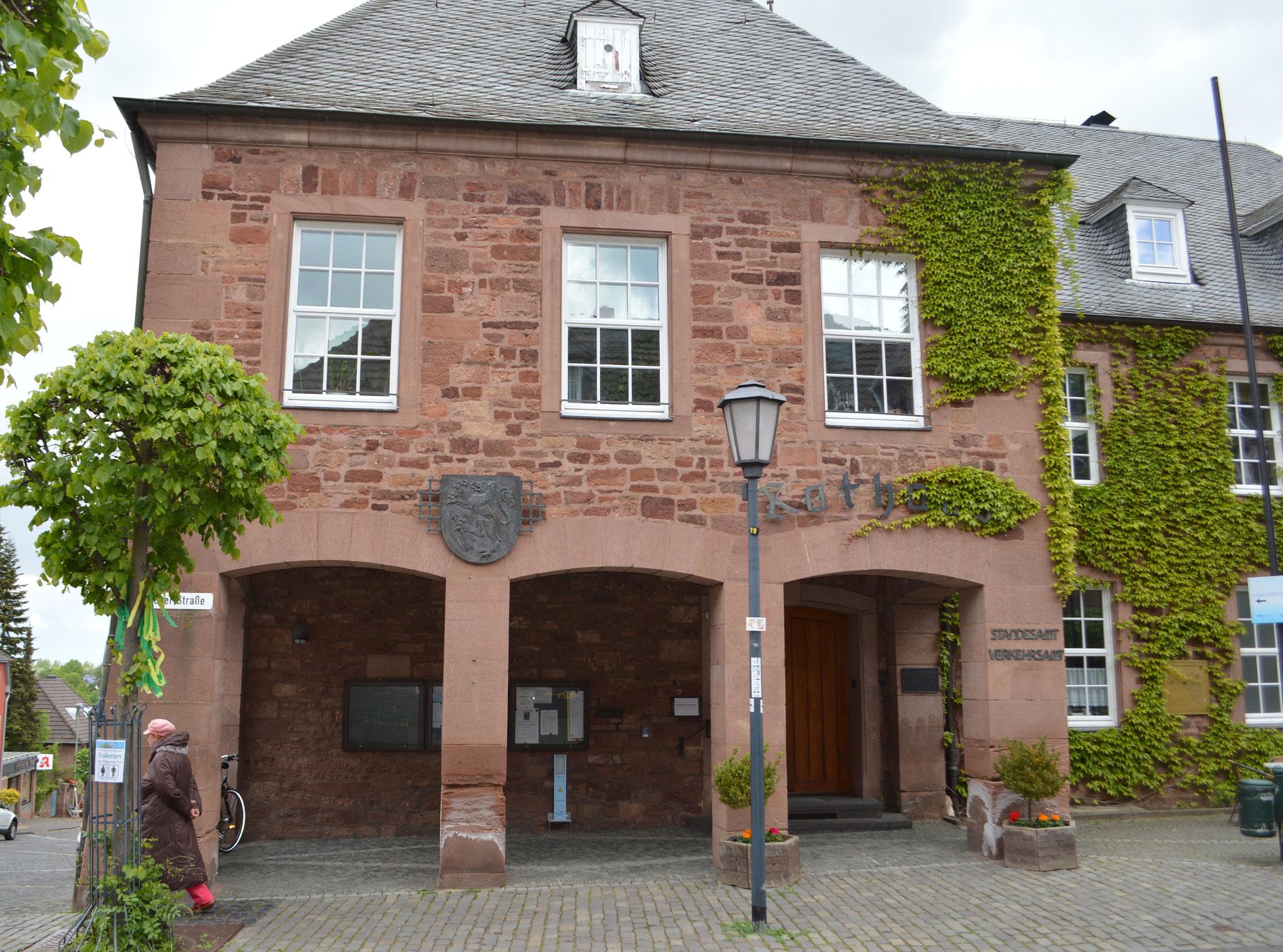 Rathaus in der historischen Altstadt der Stadt Nideggen