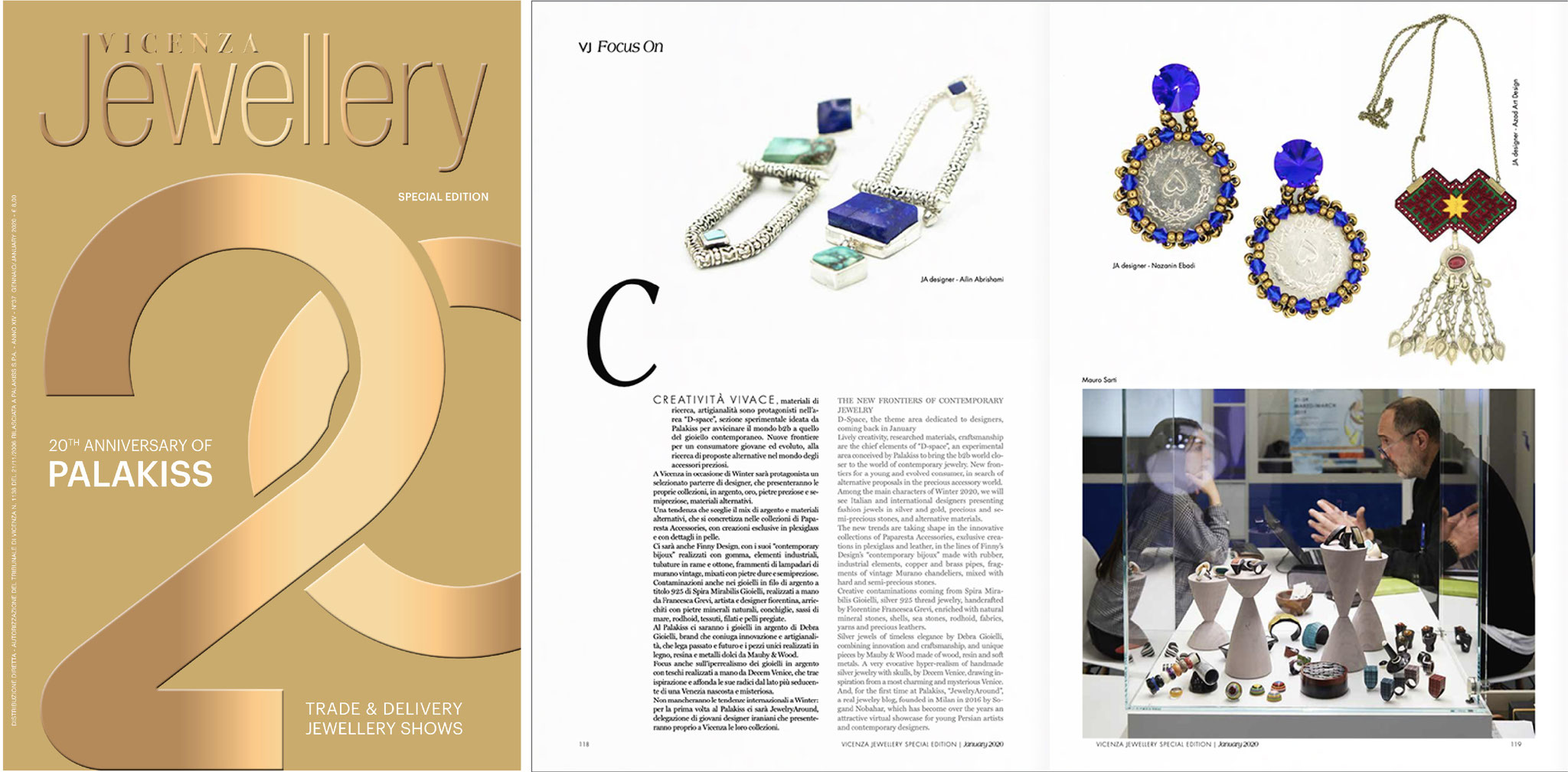 Jewelryaround on VicenzaJewelry magazine No.37 January/February 2020
