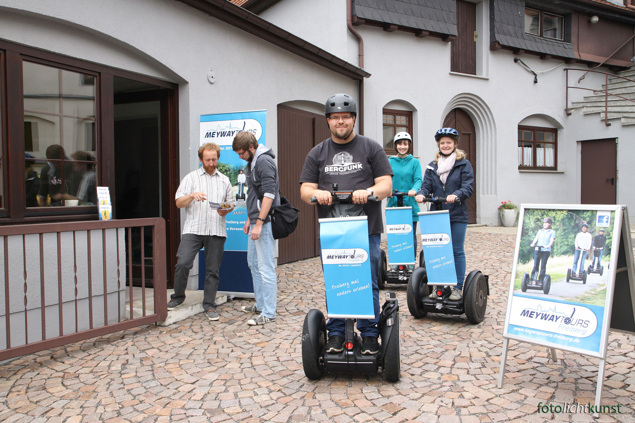 Start Freiberg Tour mit Segway
